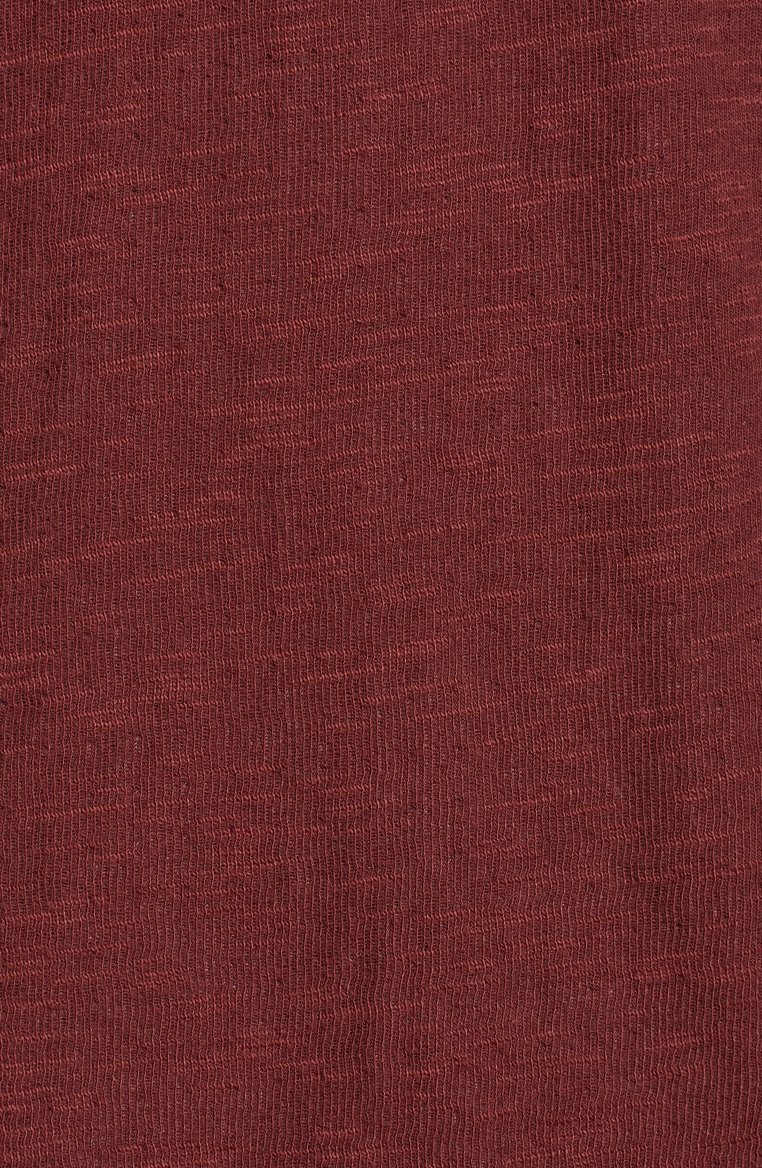 Double Layer Slim Crewneck T-Shirt,                             Alternate thumbnail 5, color,                             Andorra
