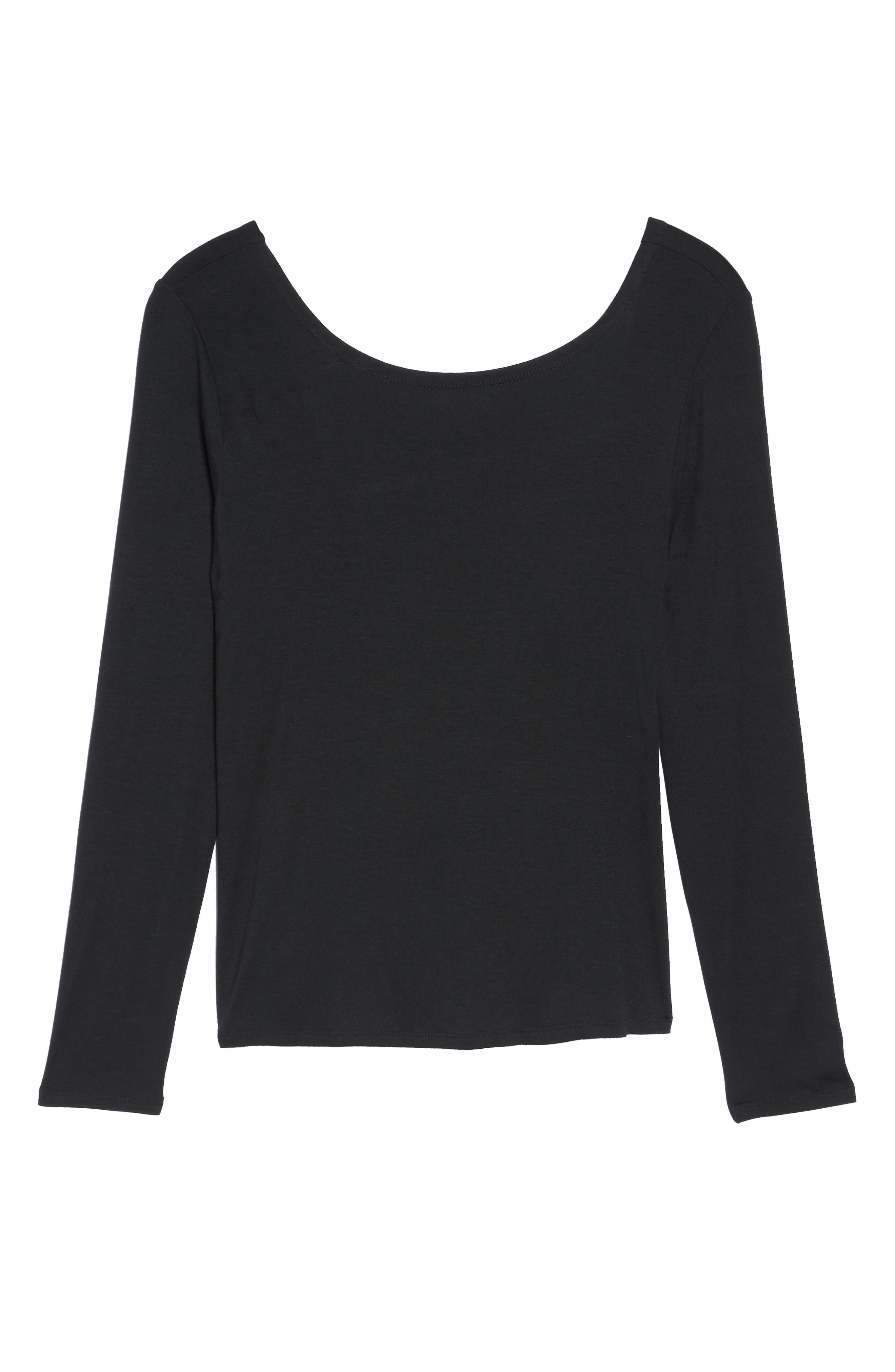 Twist of Fate Pullover,                             Alternate thumbnail 7, color,                             Black
