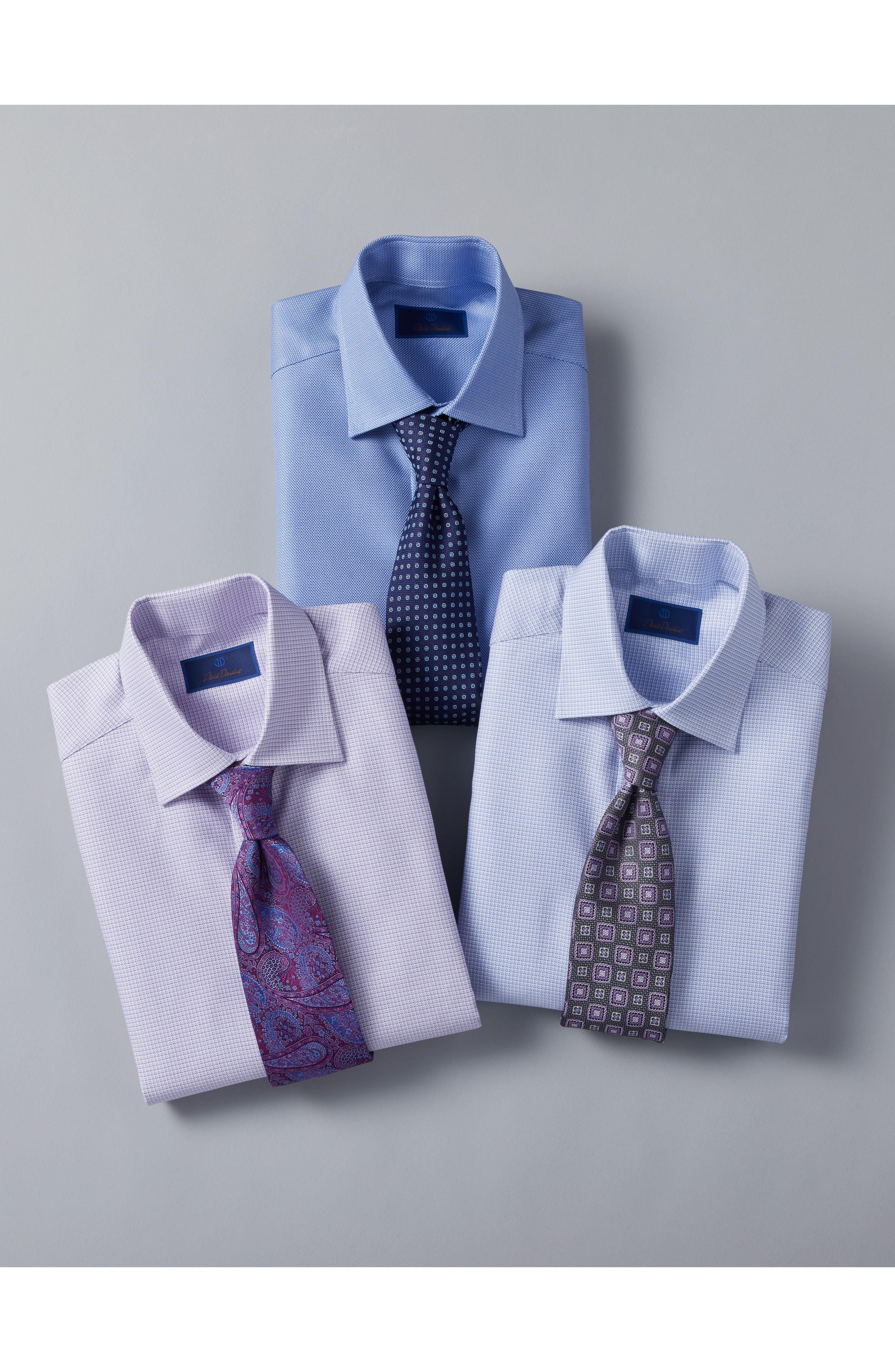 Slim Fit Solid Dress Shirt,                             Alternate thumbnail 7, color,