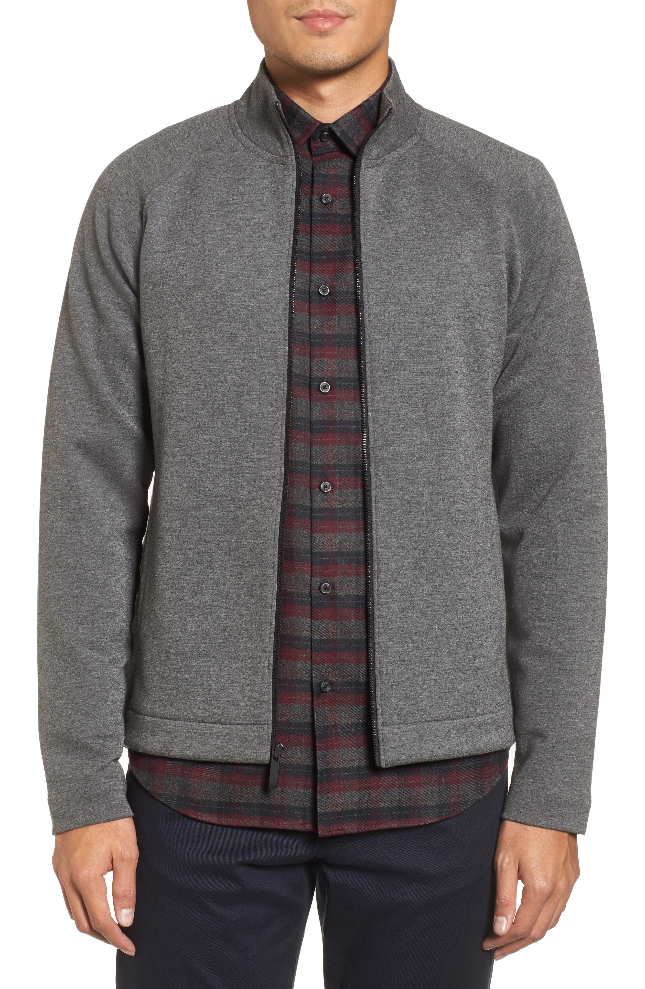 Fleece Jacket,                             Main thumbnail 1, color,                             Grey Magnet Heather