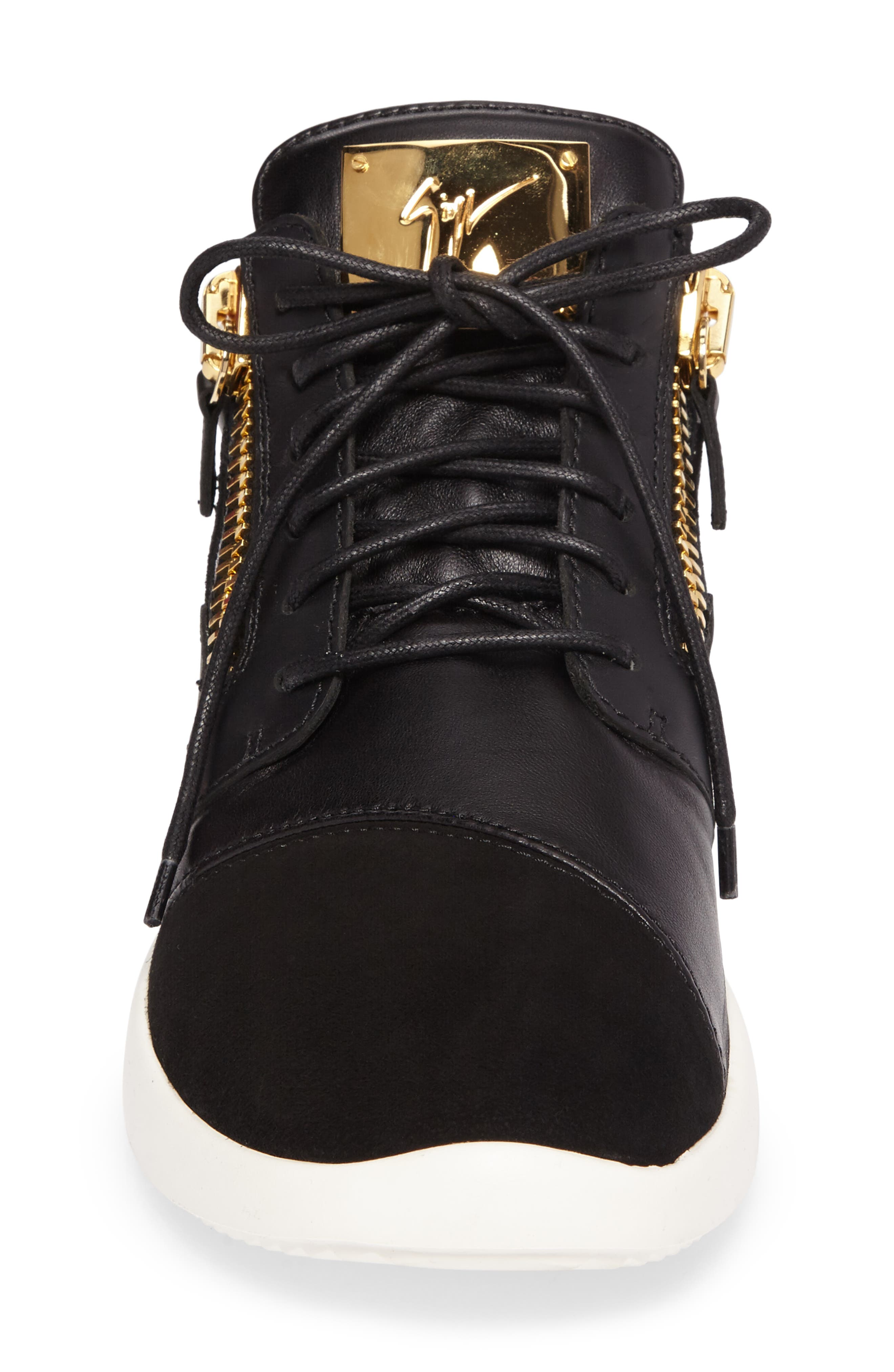 Mid-Top Sneaker,                             Alternate thumbnail 4, color,                             Black