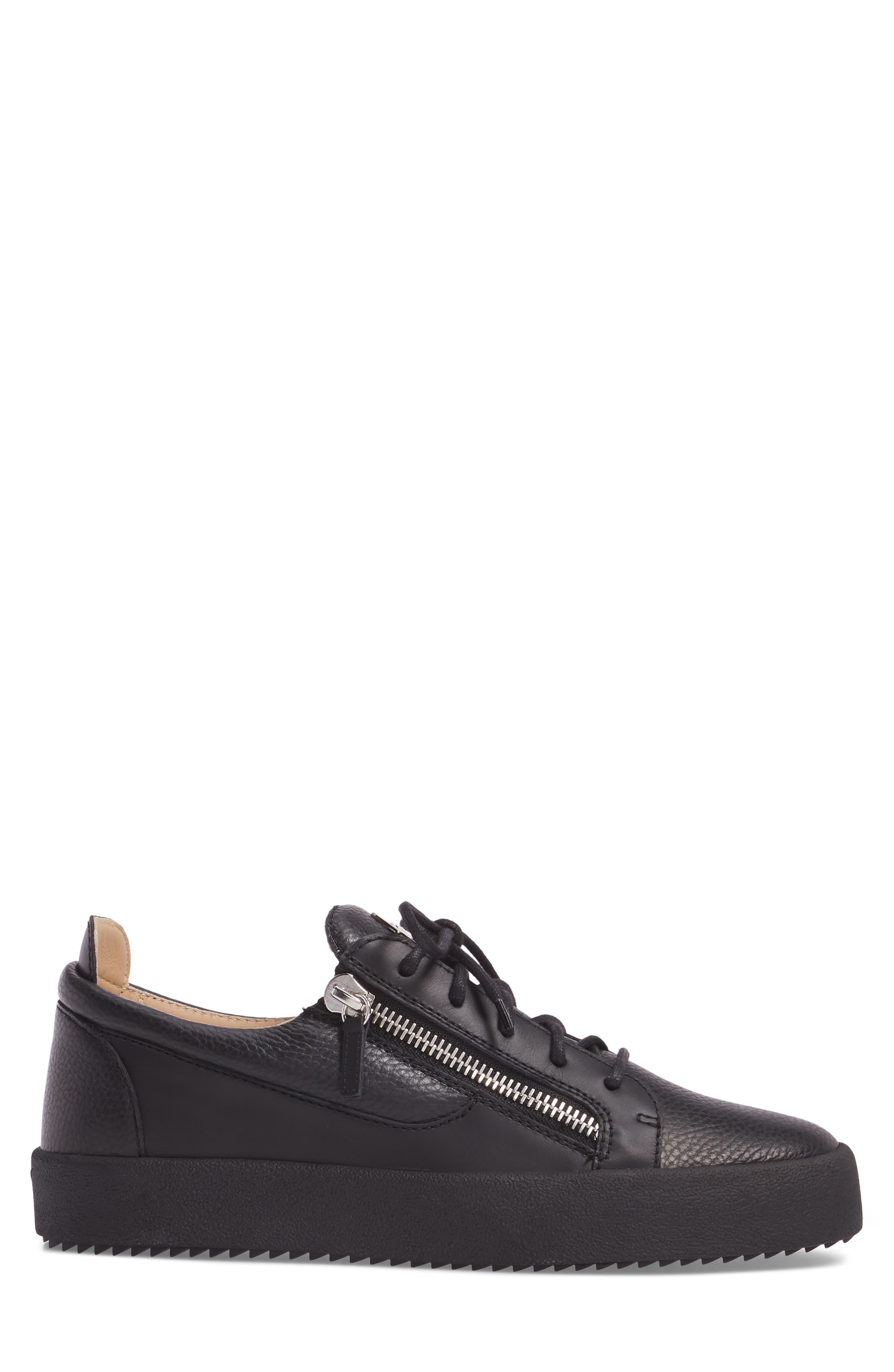 Low-Top Sneaker,                             Alternate thumbnail 3, color,                             Black