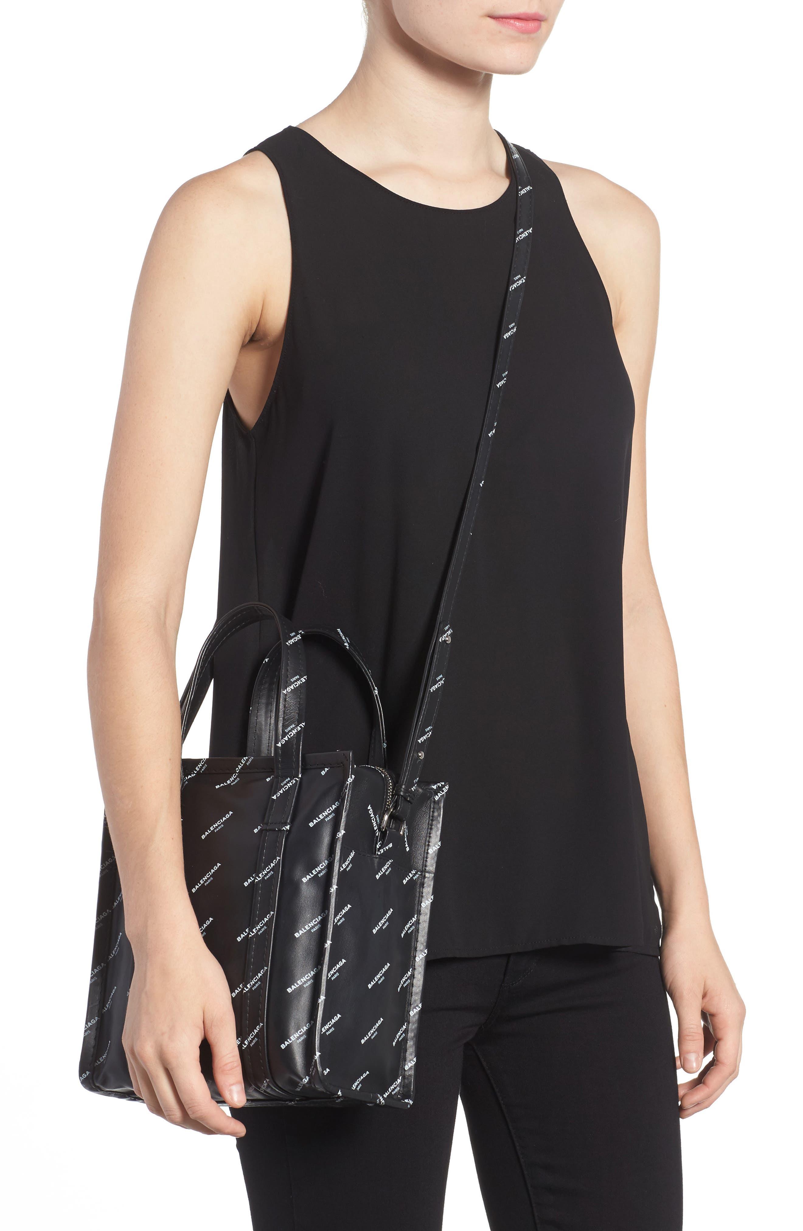 Alternate Image 2  - Balenciaga Extra Small Bazar Logo Leather Shopper