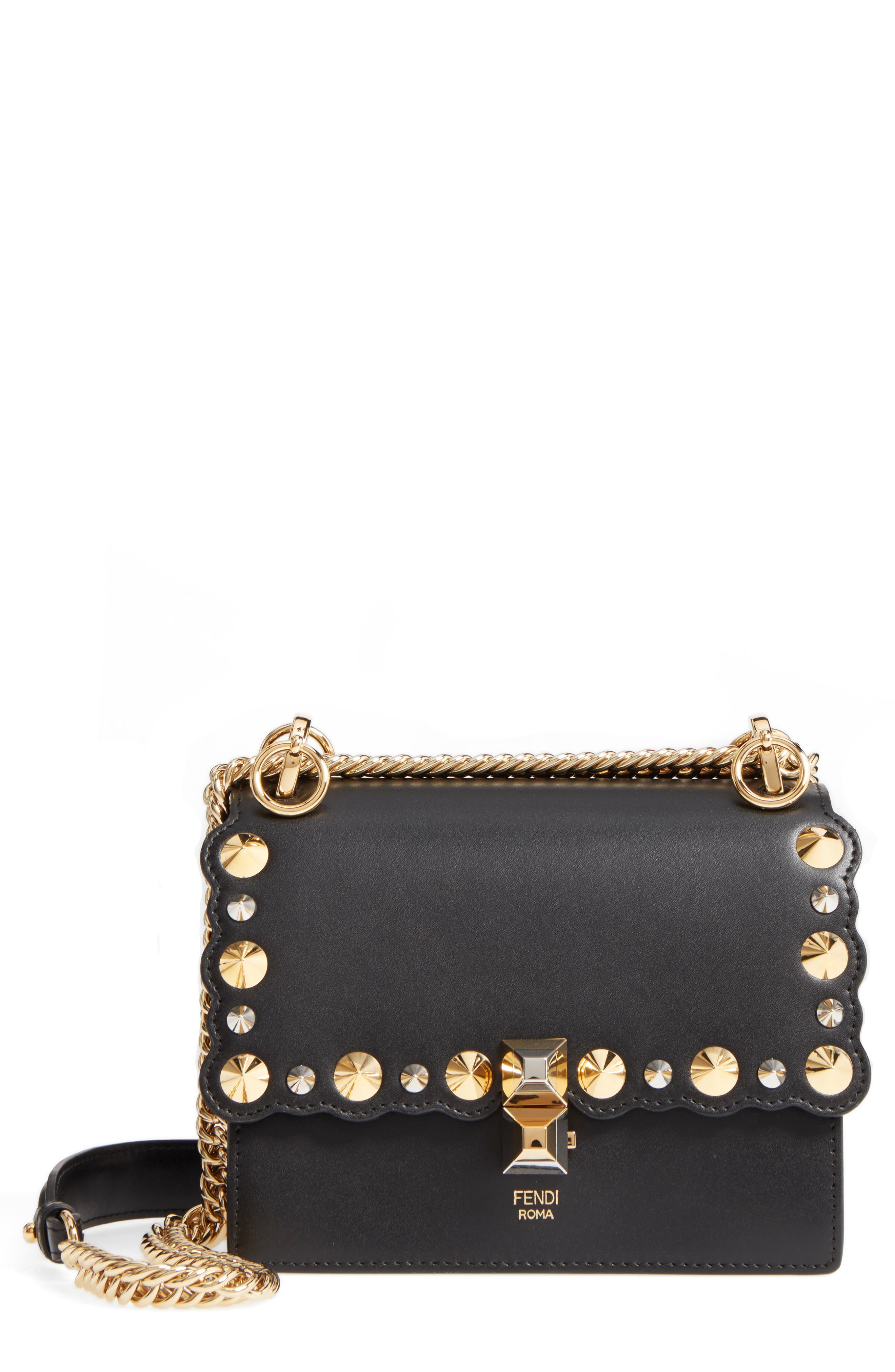 Alternate Image 1 Selected - Fendi Small Kan I Scallop Leather Shoulder Bag