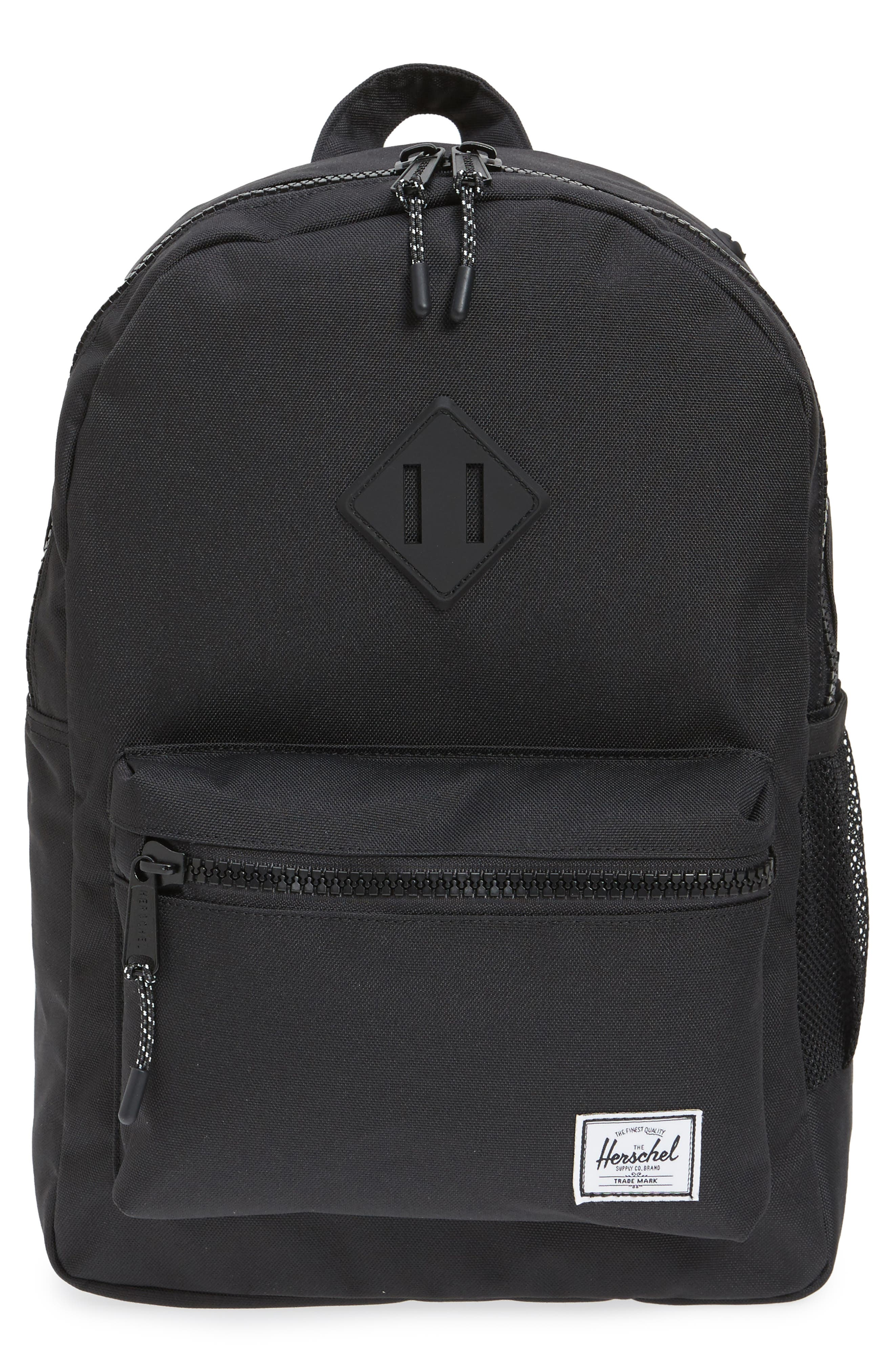 Heritage Backpack,                             Main thumbnail 1, color,                             Black/ Black Rubber