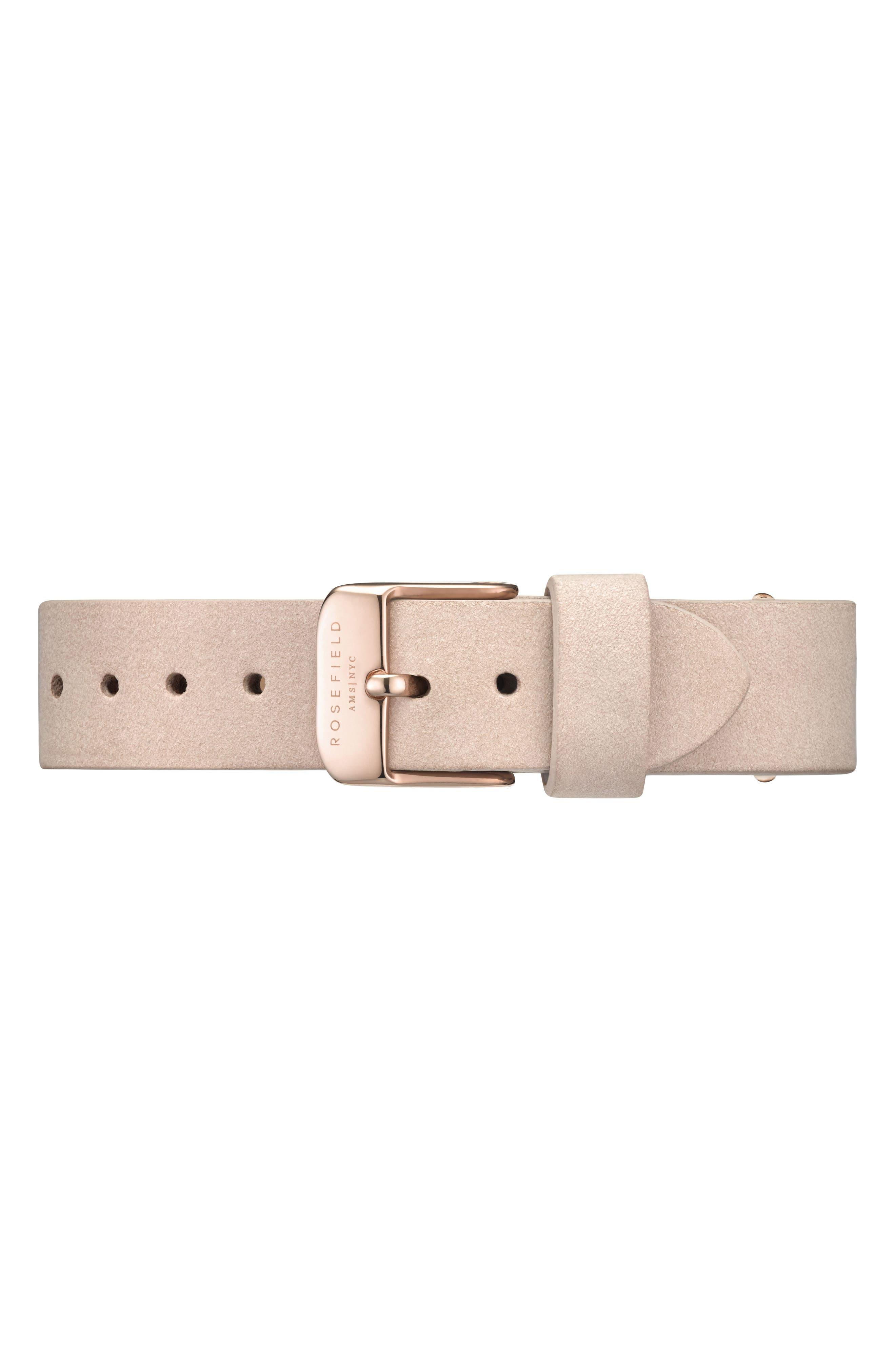 Alternate Image 3  - Rosefield Holiday Leather Strap Watch & Bracelet Gift Set, 33mm