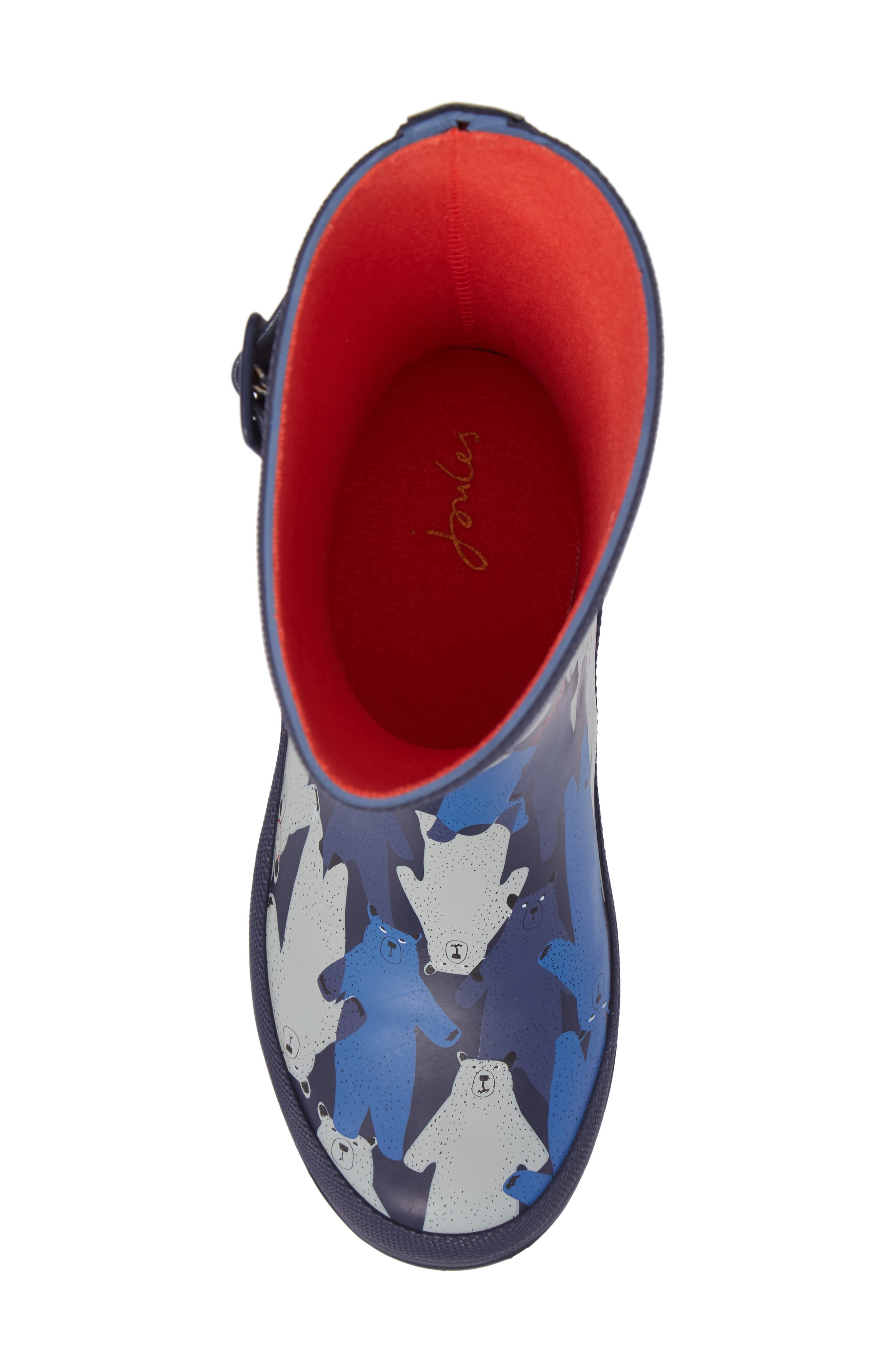Alternate Image 5  - Joules Printed Waterproof Rain Boot (Toddler, Little Kid & Big Kid)