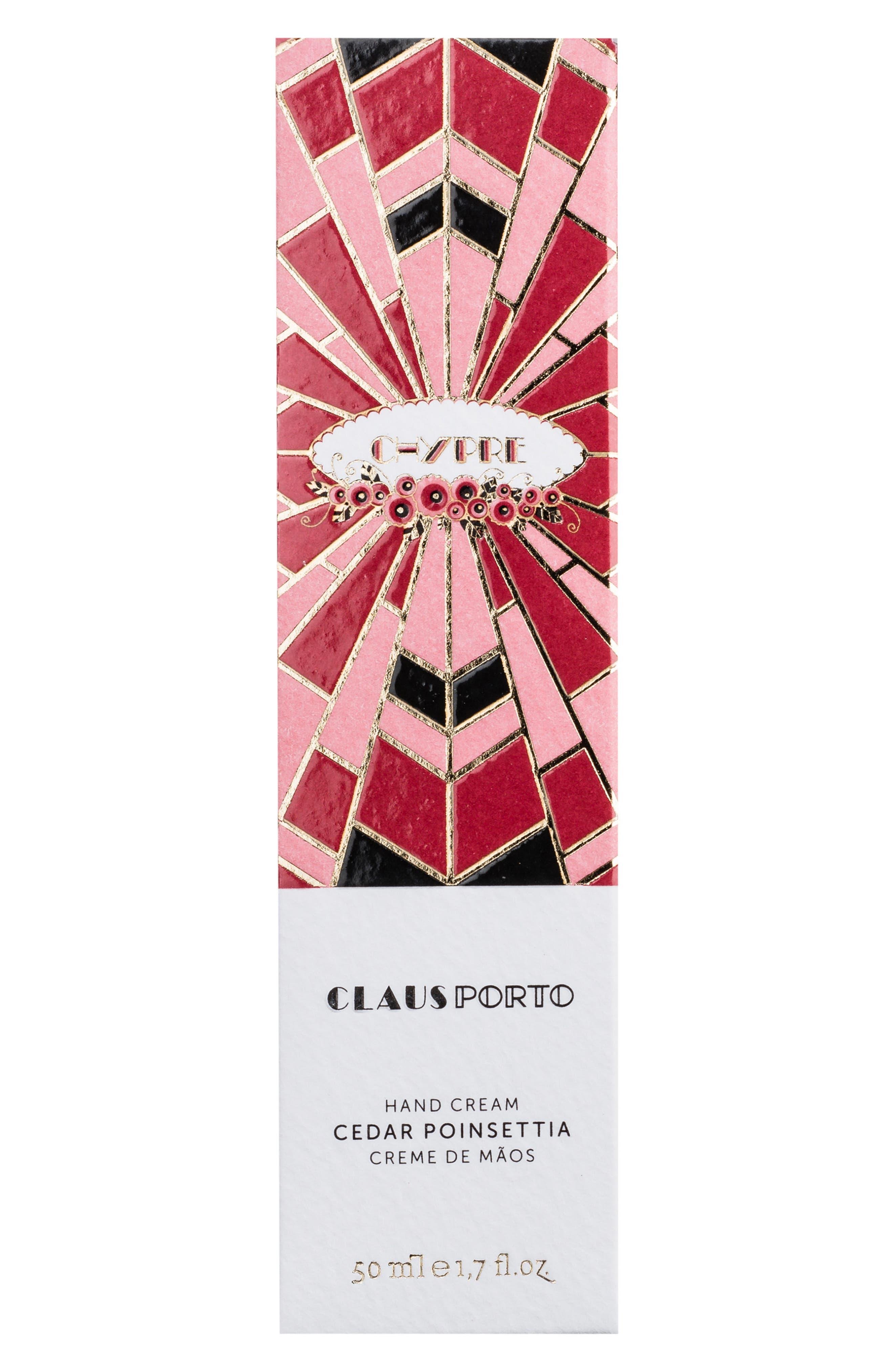 Chypre Cedar Poinsettia Hand Cream,                             Alternate thumbnail 2, color,                             No Color