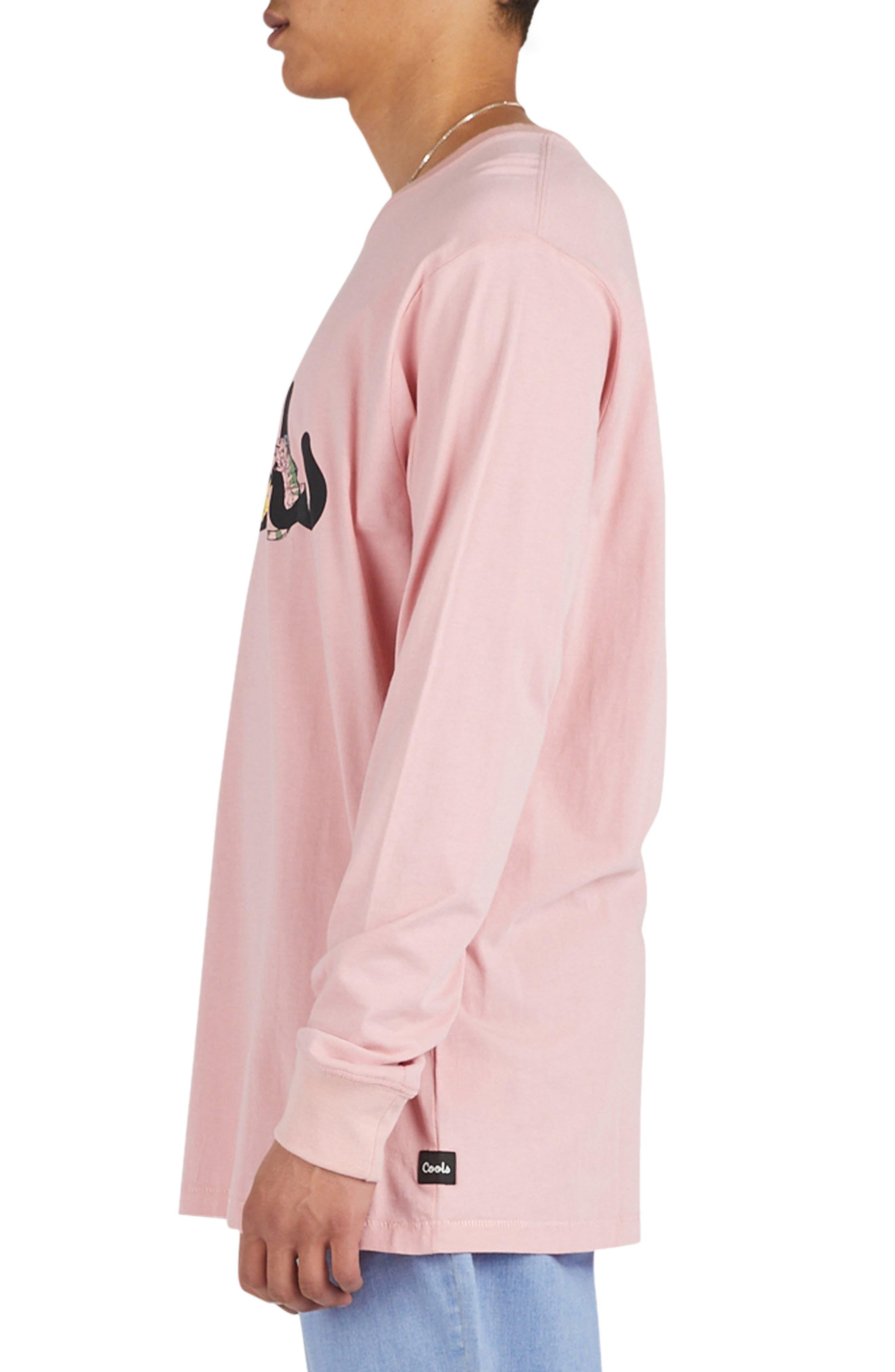 Pink Animals Long Sleeve T-Shirt,                             Alternate thumbnail 3, color,                             Pink Animals