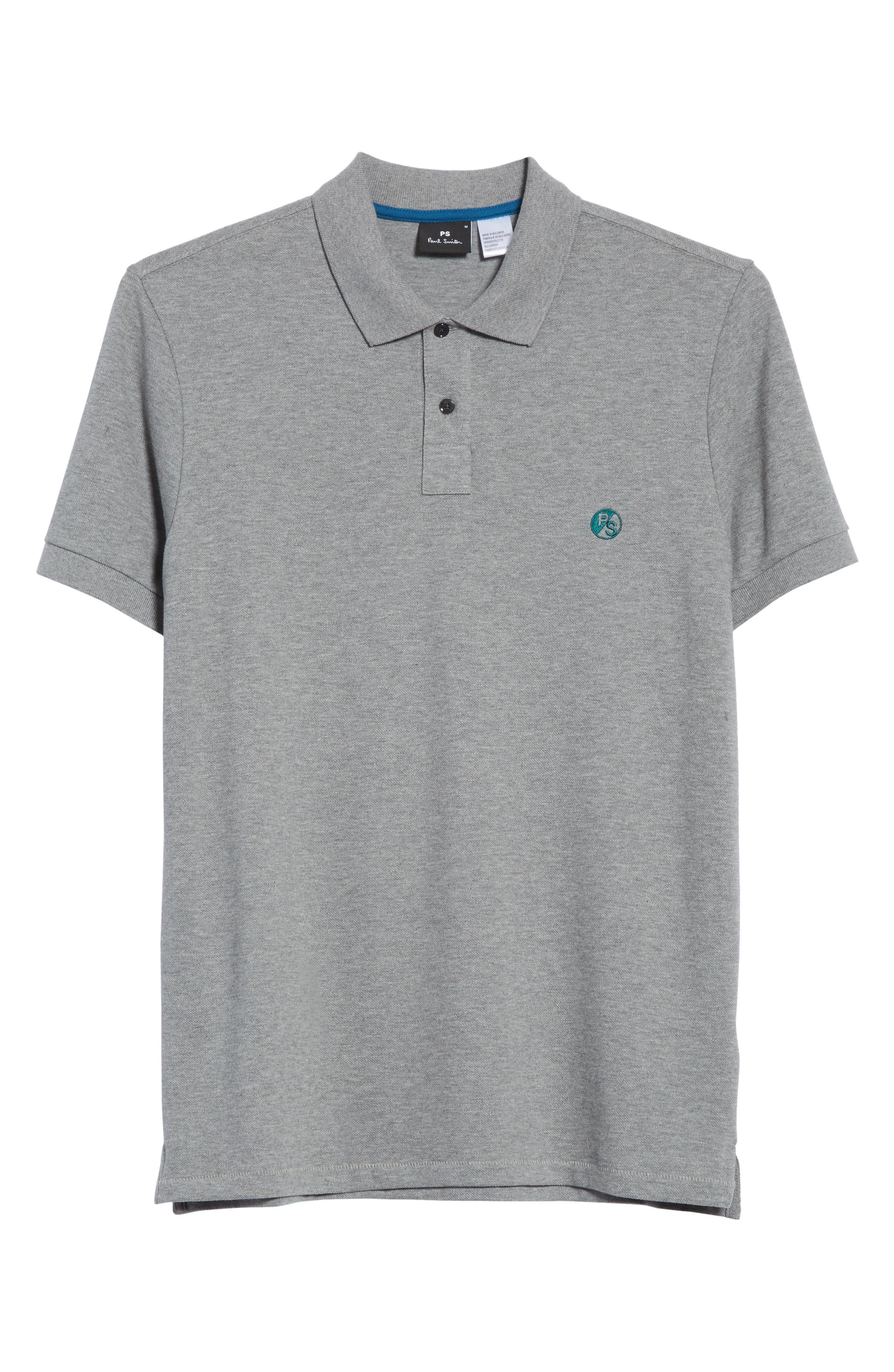 PS Logo Piqué Polo,                             Alternate thumbnail 6, color,                             Grey