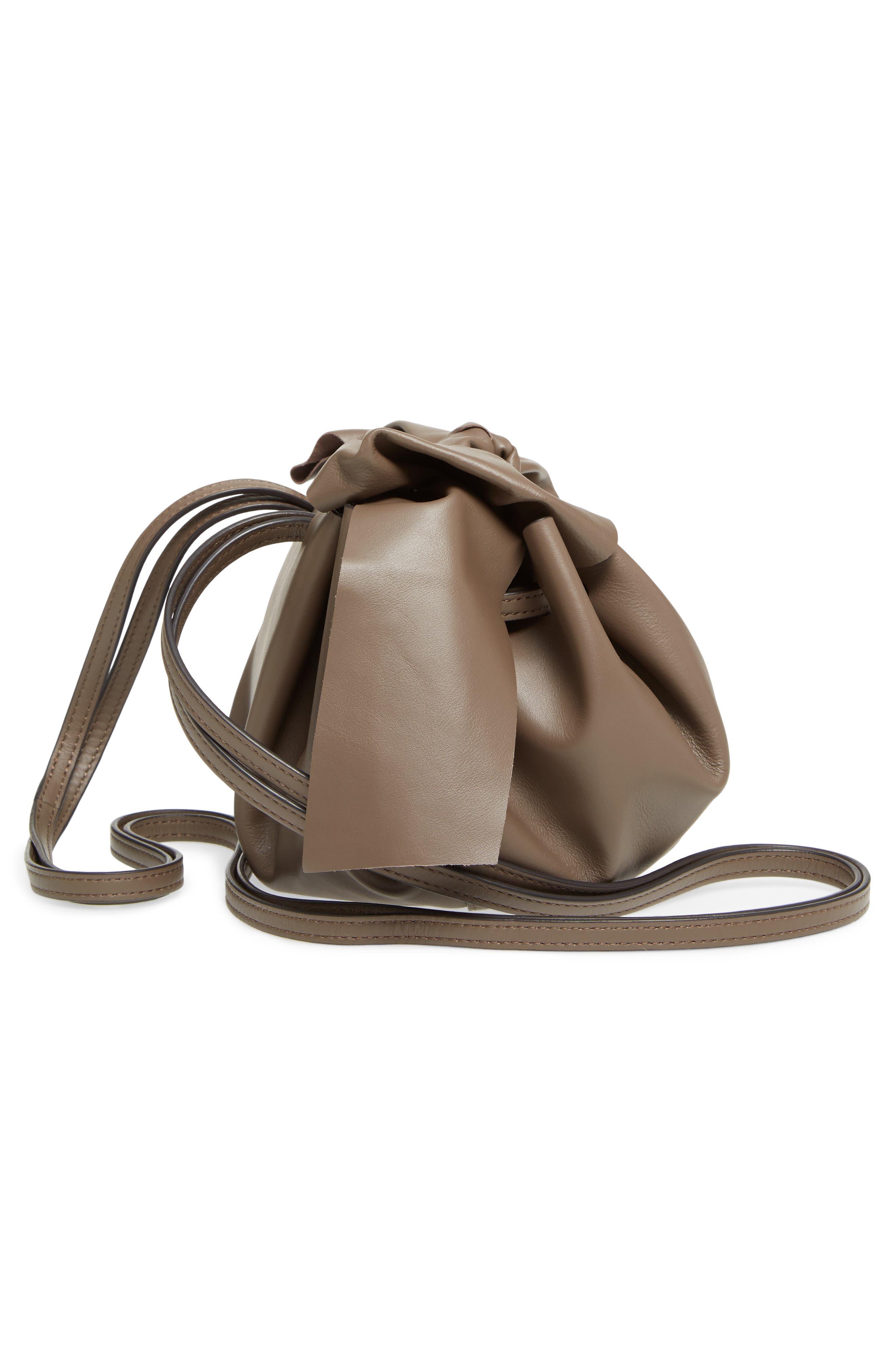 Soiree Leather Crossbody Bag,                             Alternate thumbnail 4, color,                             Mockingbird