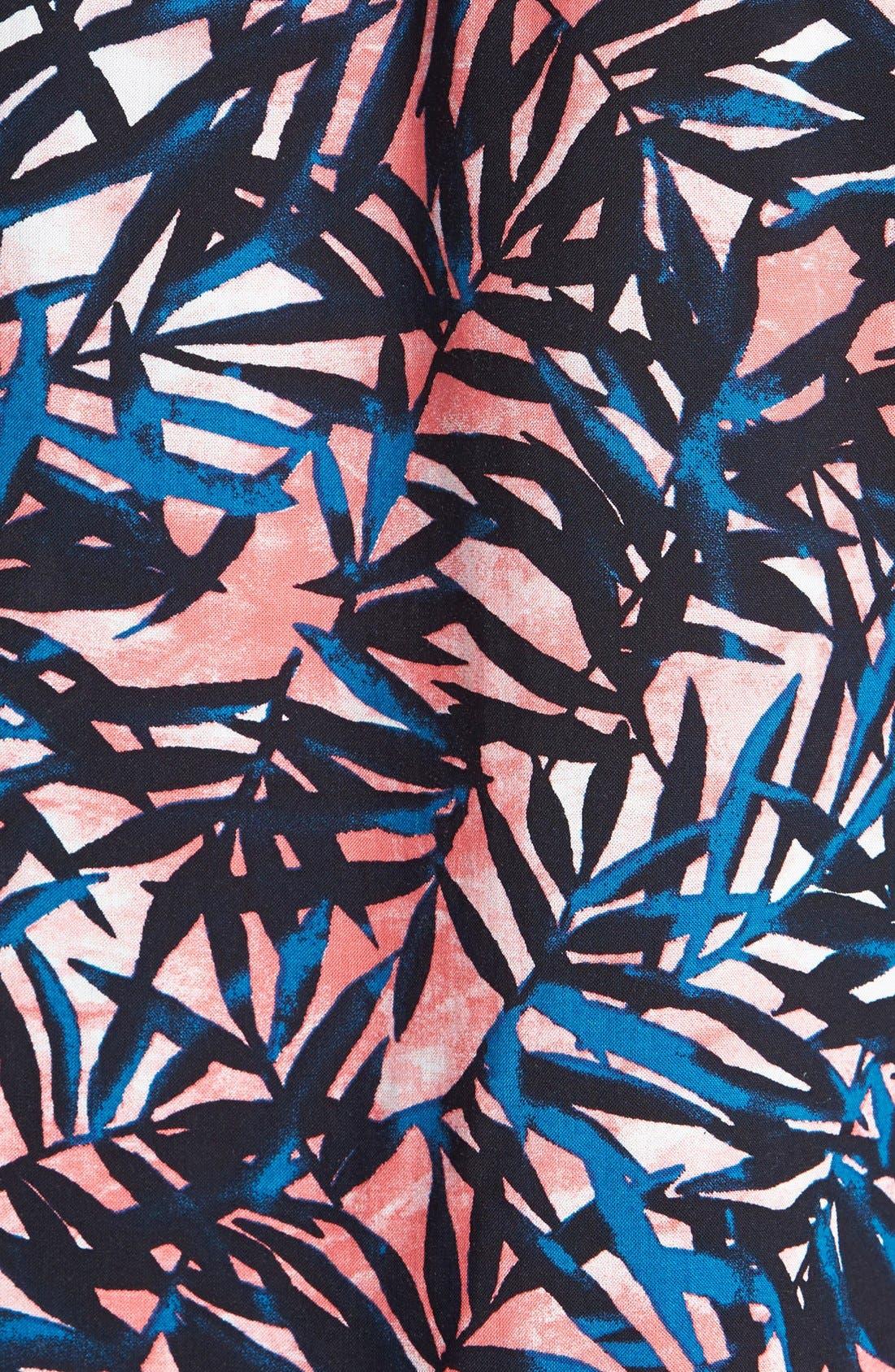 Alternate Image 4  - Lily White Tropical Print Tee (Juniors)