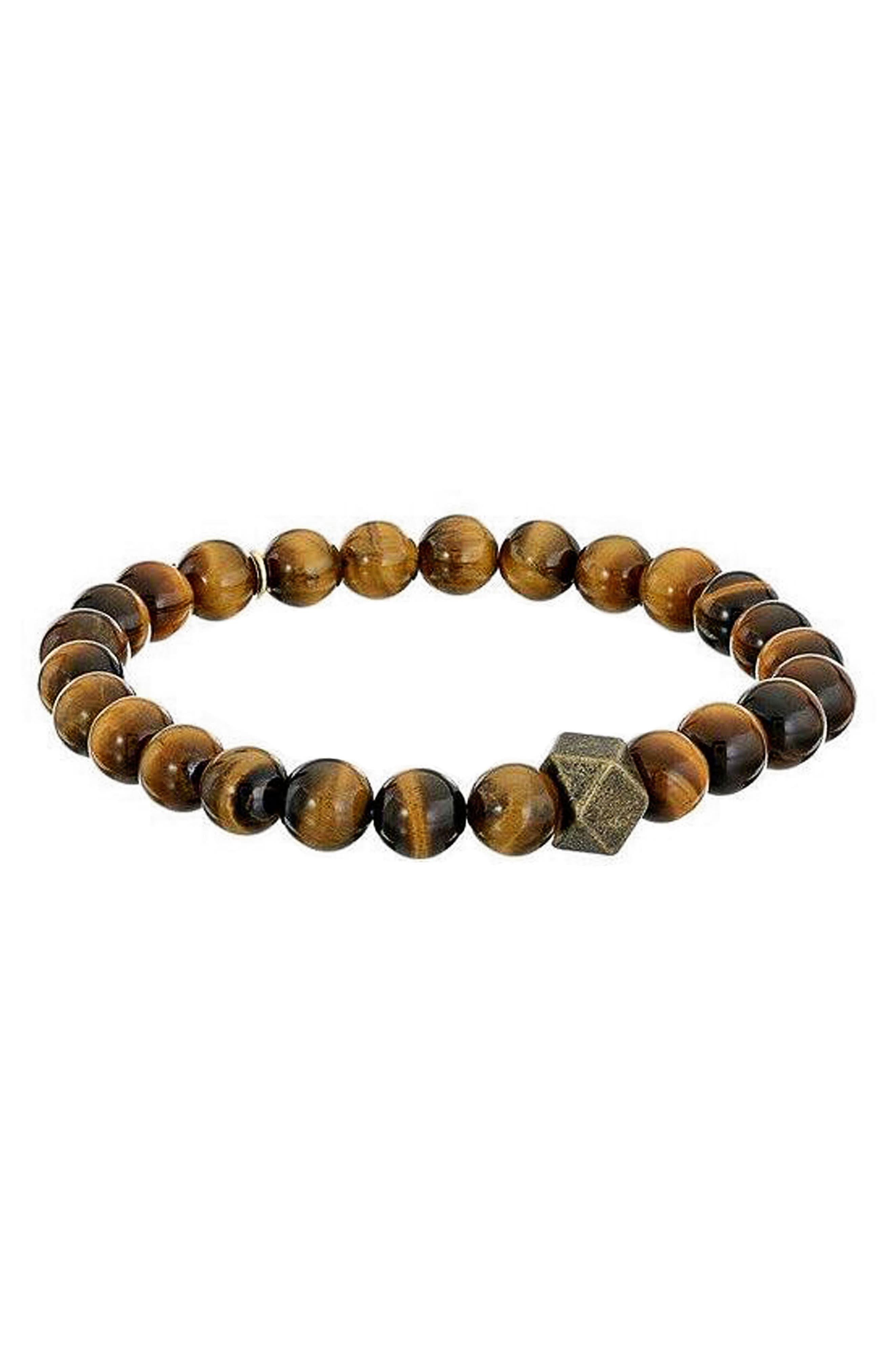 Tiger's-Eye Bracelet,                         Main,                         color, Brown