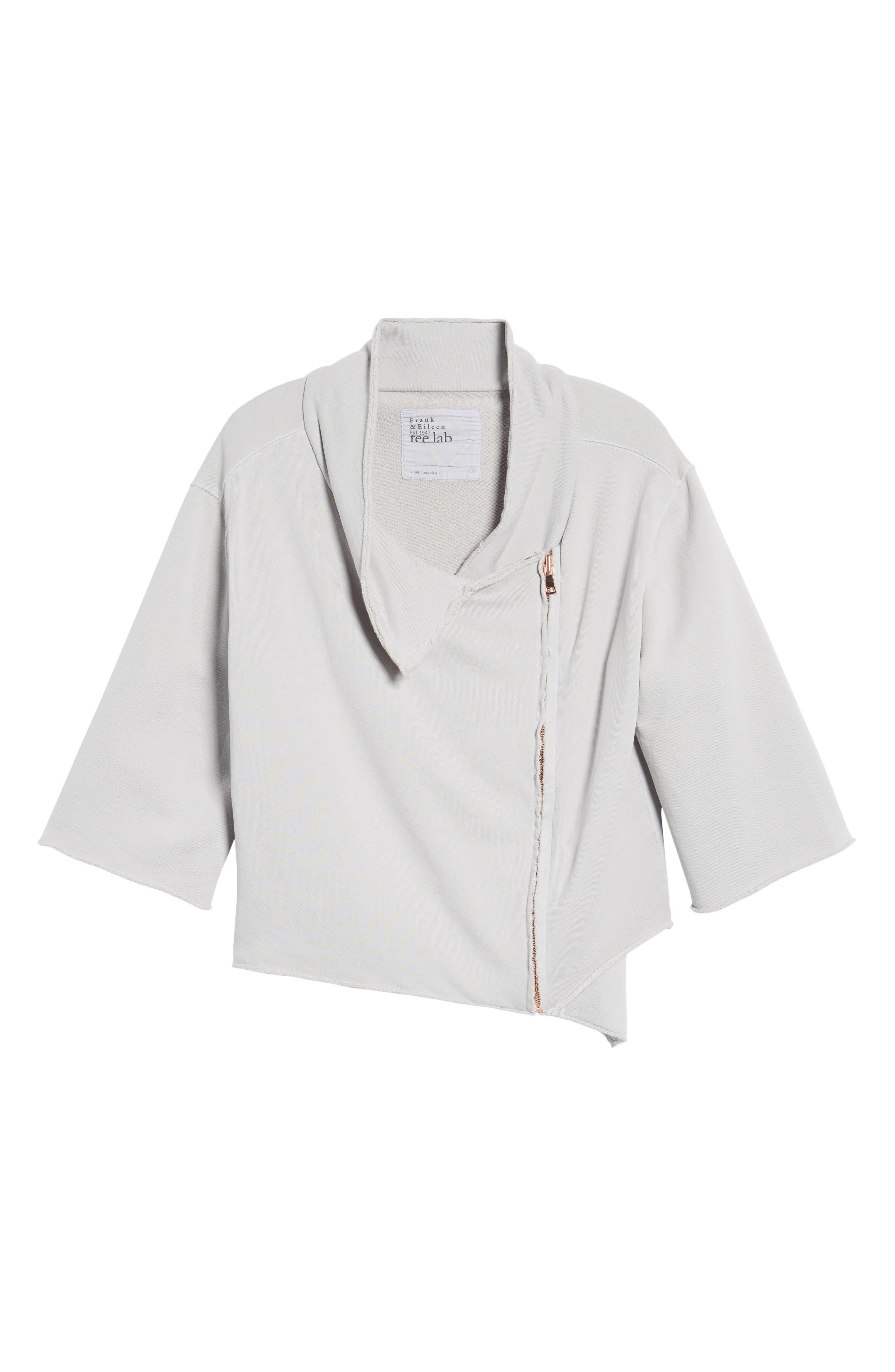 Alternate Image 6  - Frank & Eileen Tee Lab Moto Zip Sweatshirt