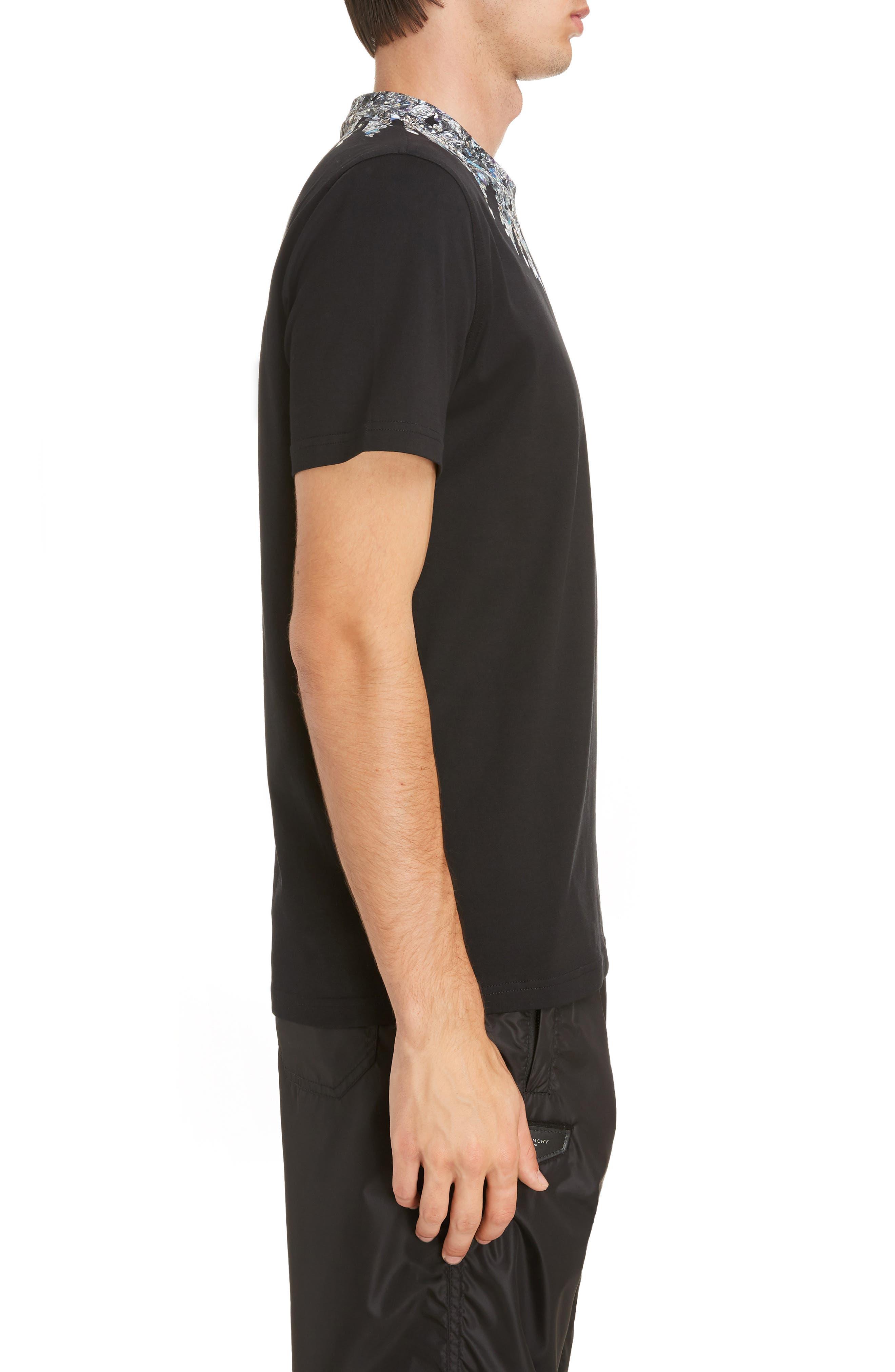 Jewel Print Crewneck T-Shirt,                             Alternate thumbnail 3, color,                             Black