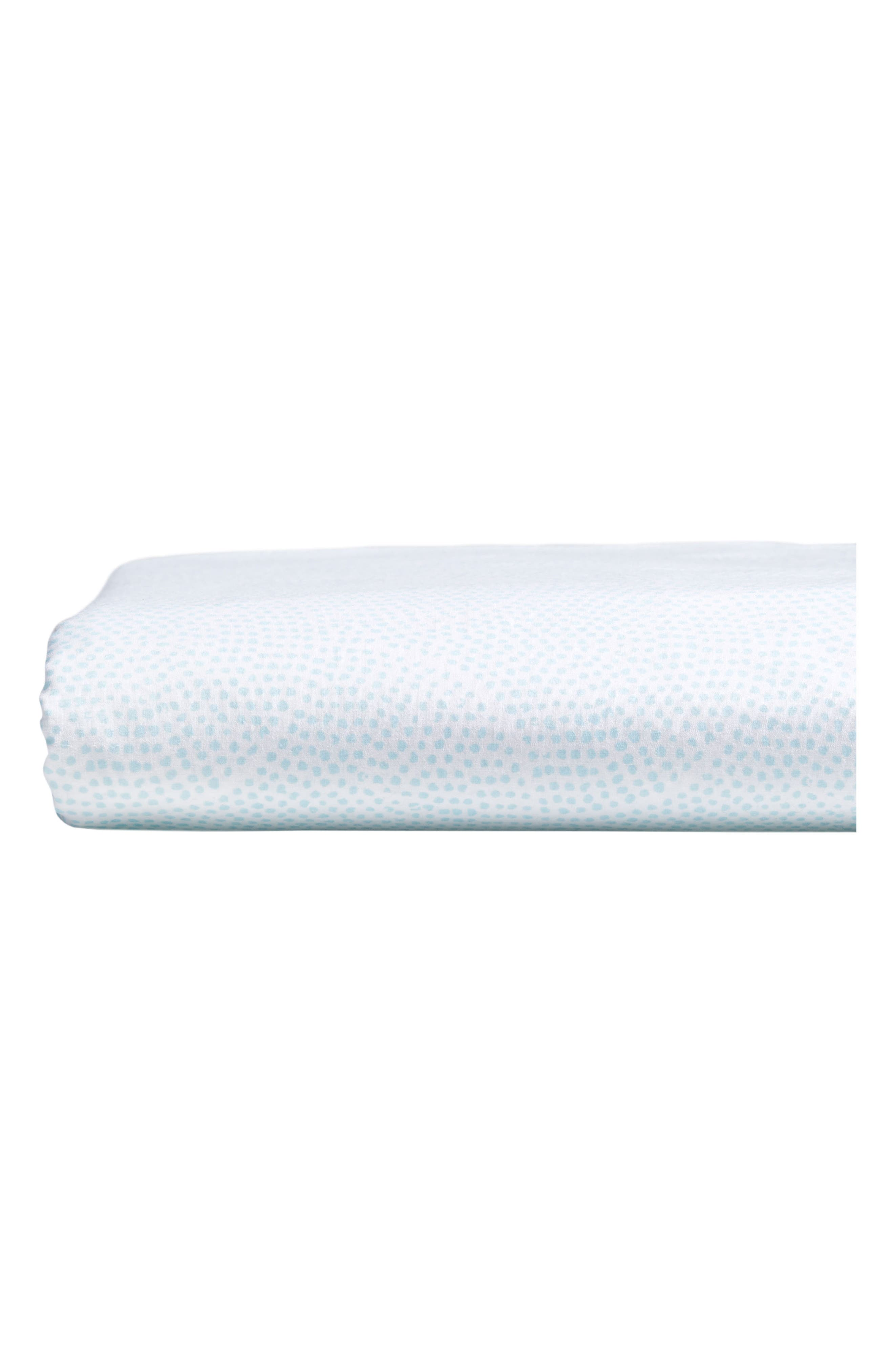 Vatula 400 Thread Count Fitted Sheet,                             Main thumbnail 1, color,                             Seaglass