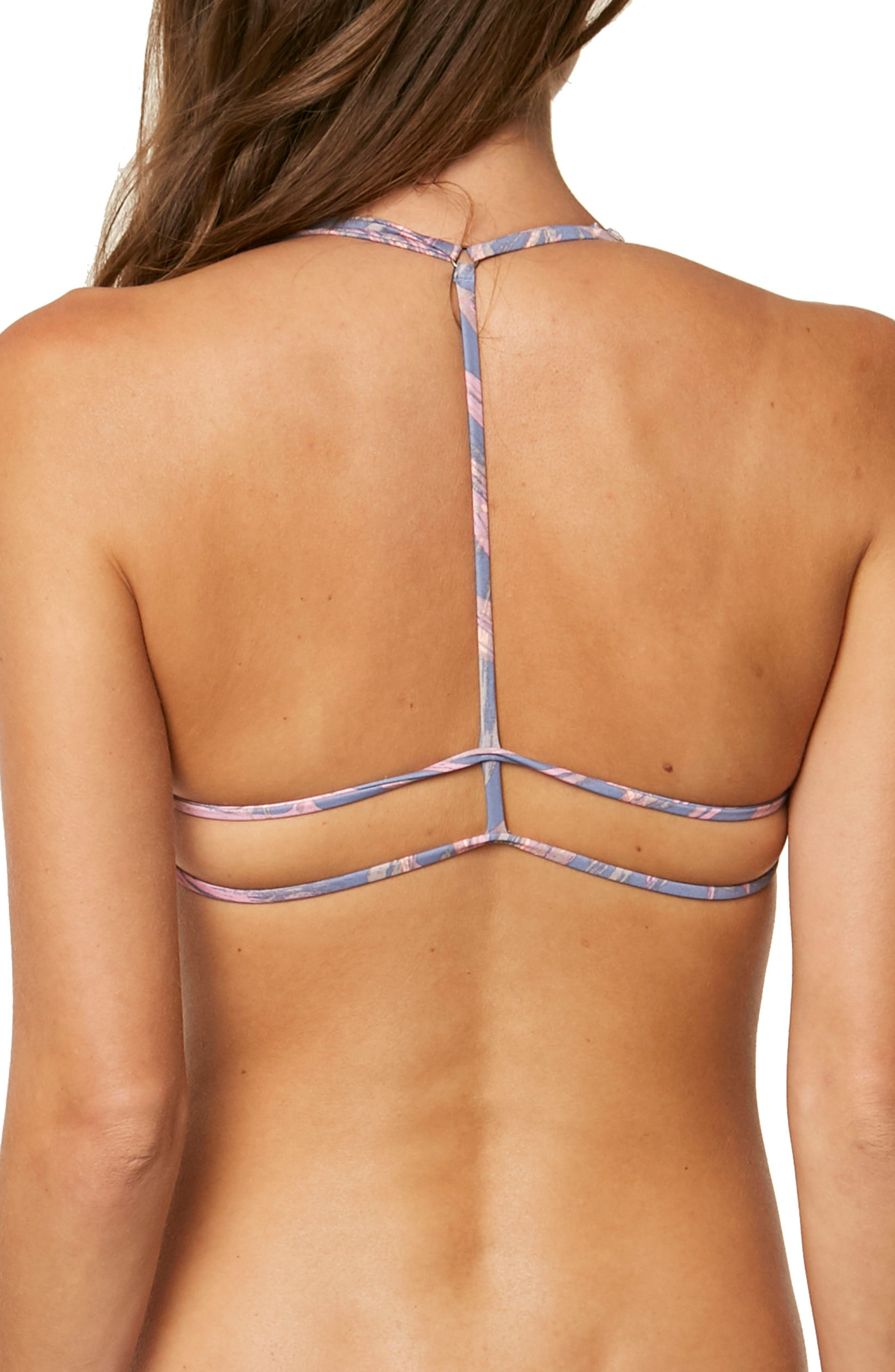 Faye Triangle Bikini Top,                             Alternate thumbnail 2, color,                             Mist - Fog