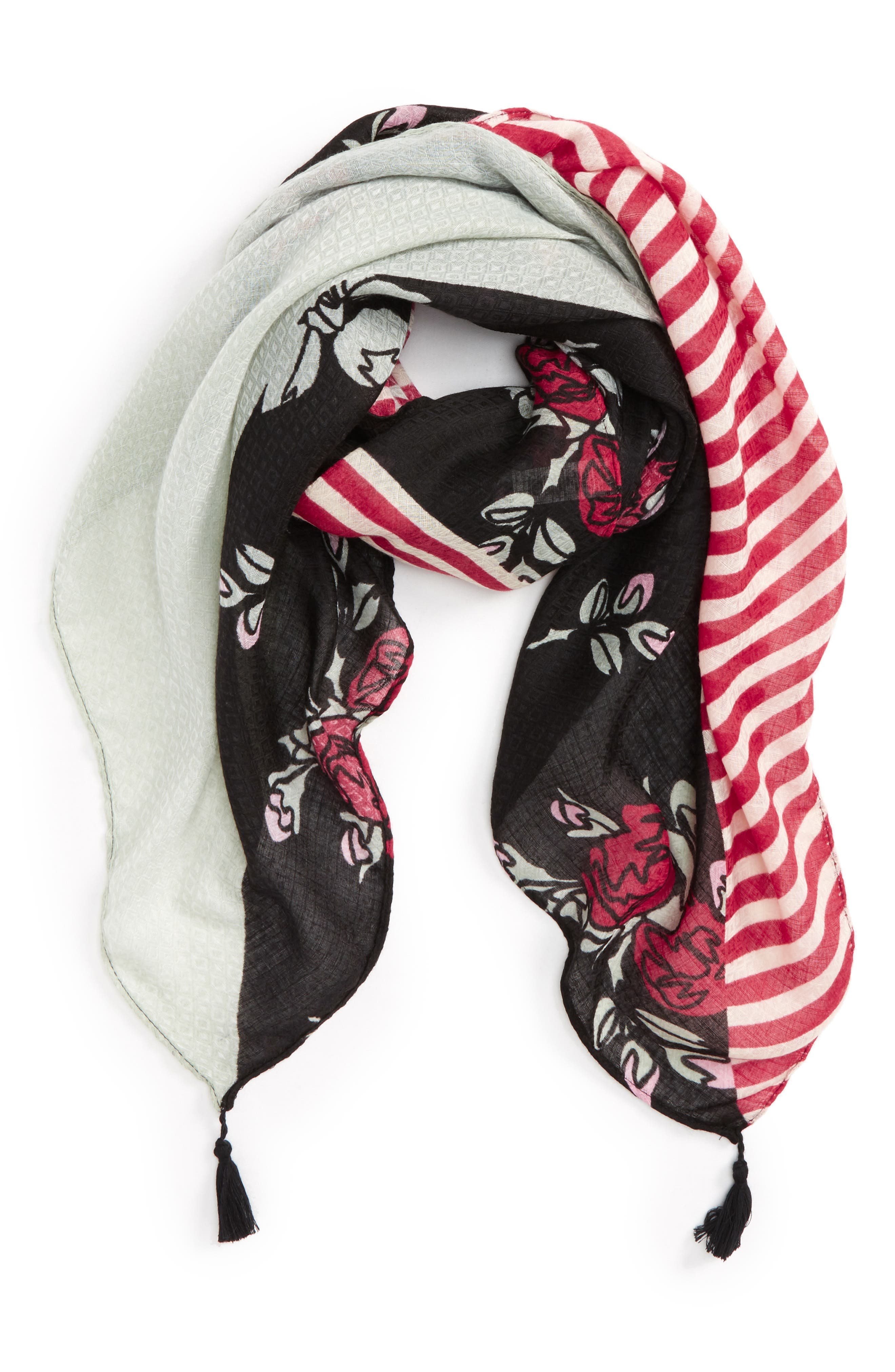 BP. Mixed Floral Print Square Scarf
