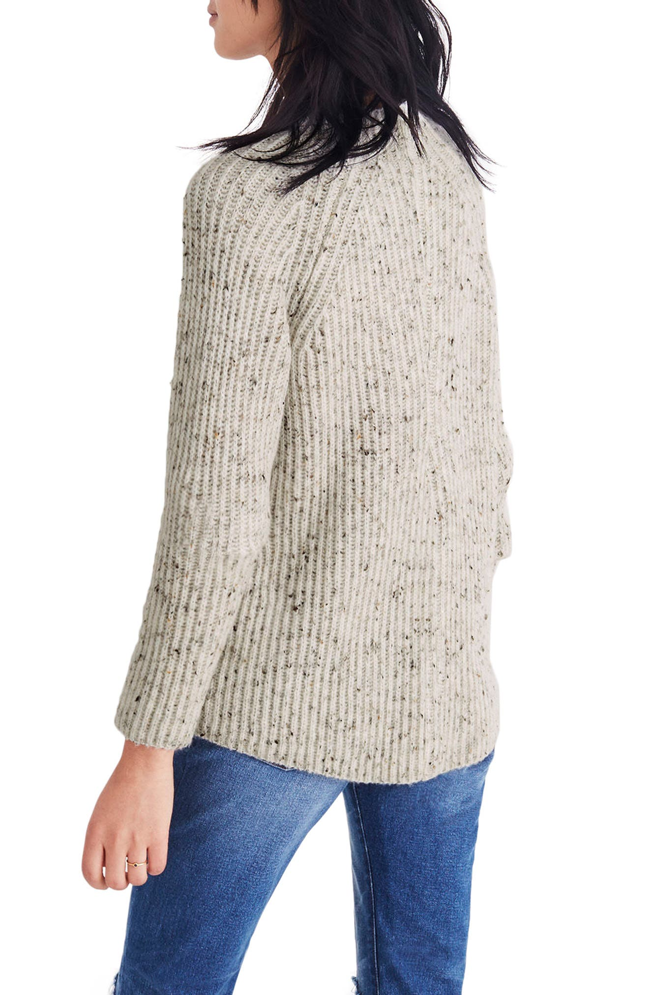 Donegal Northfield Mockneck Sweater,                             Alternate thumbnail 2, color,                             Donegal Snow