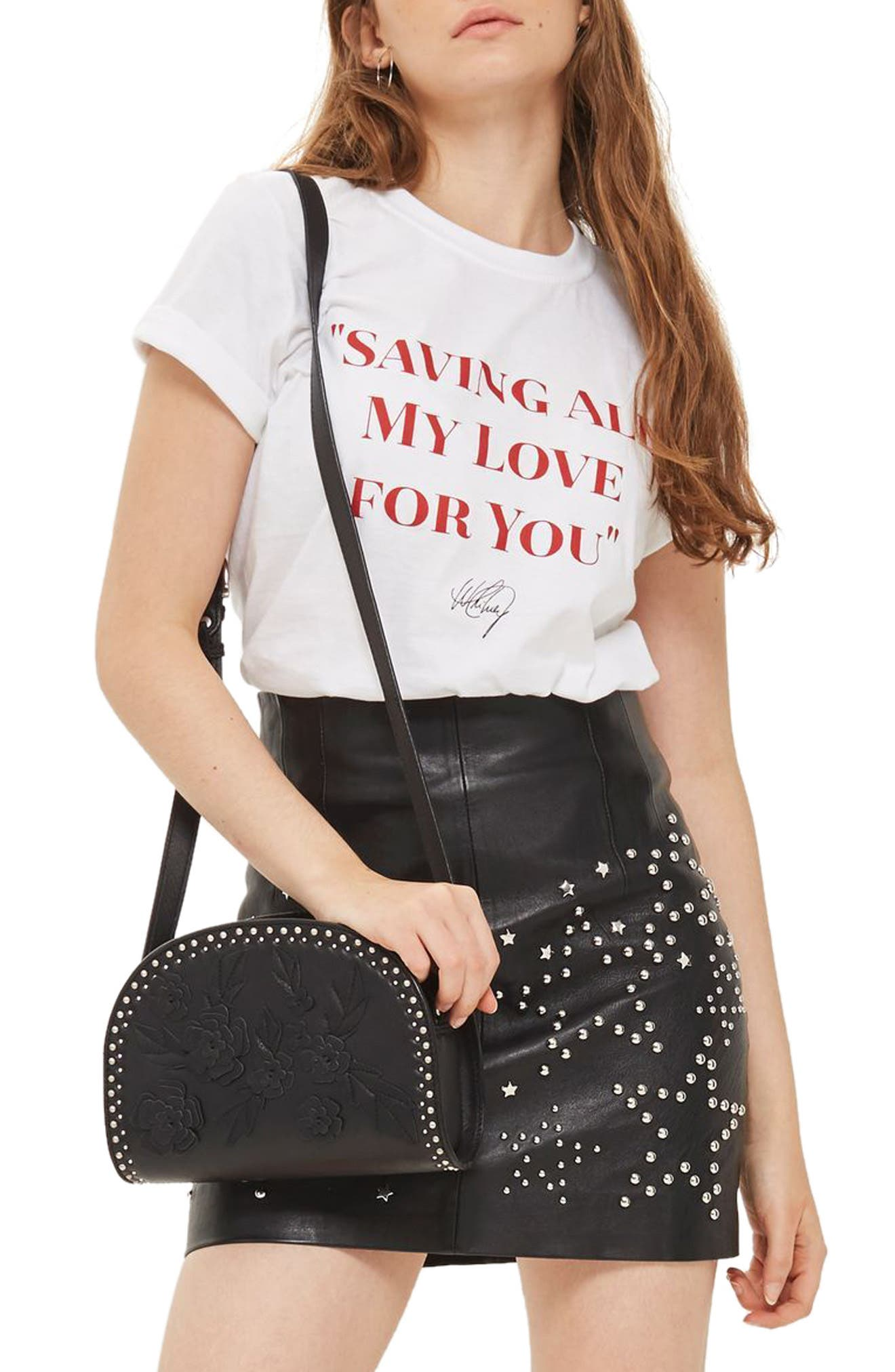 Saving All My Love Tee,                             Main thumbnail 1, color,                             White Multi