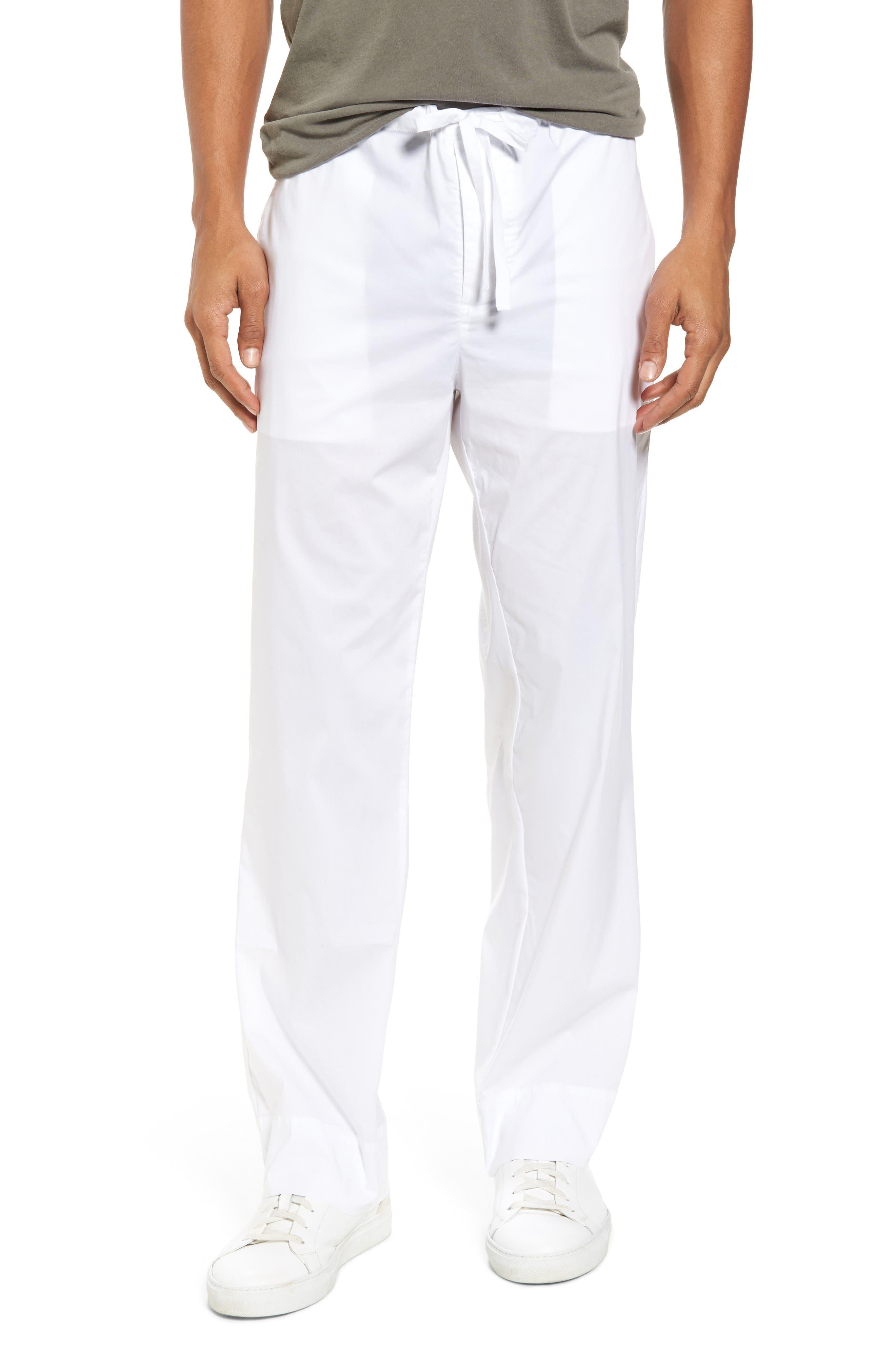 Drawstring Waist Pants,                             Main thumbnail 1, color,                             White