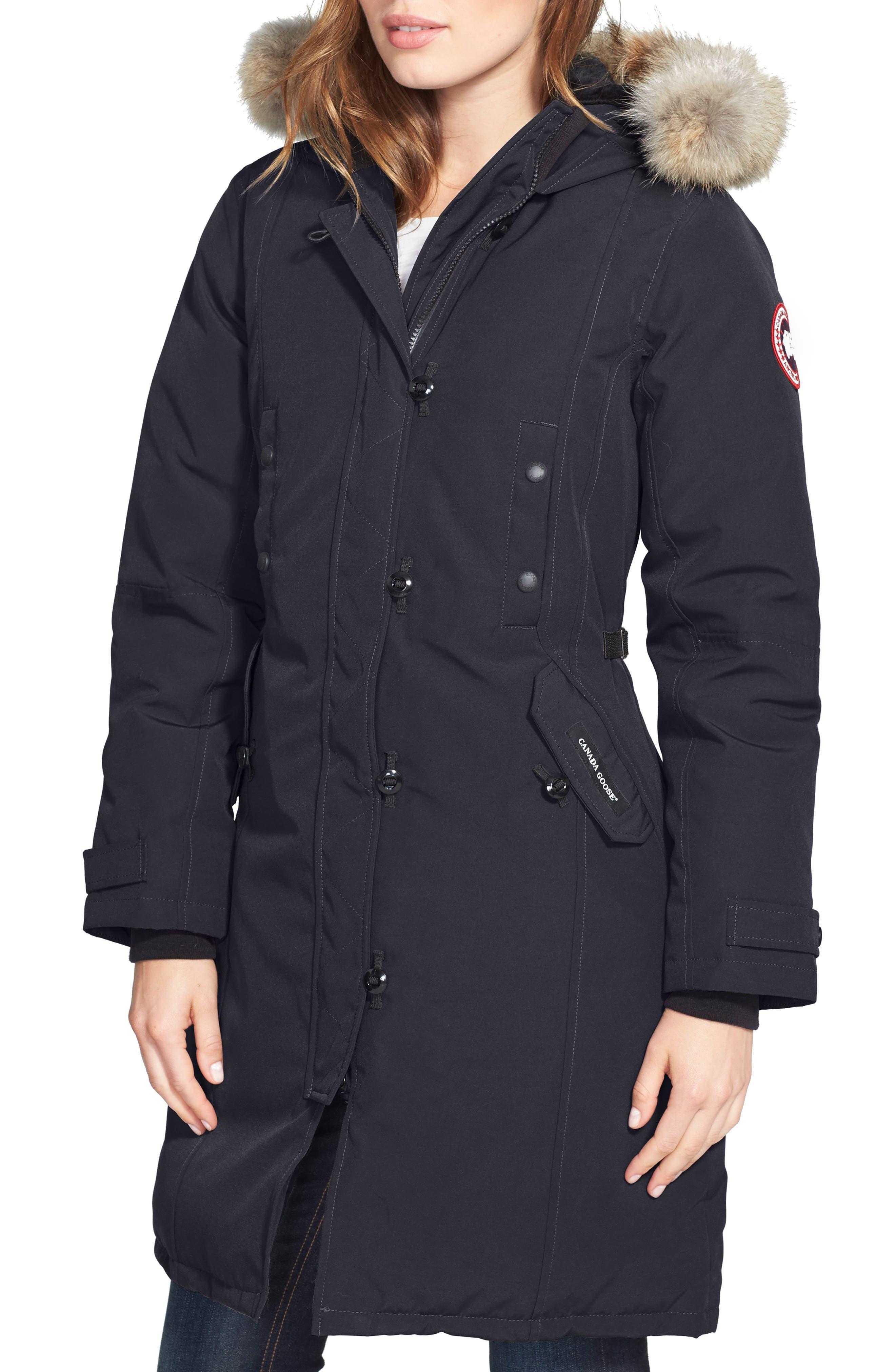 Womens khaki jacket with hood