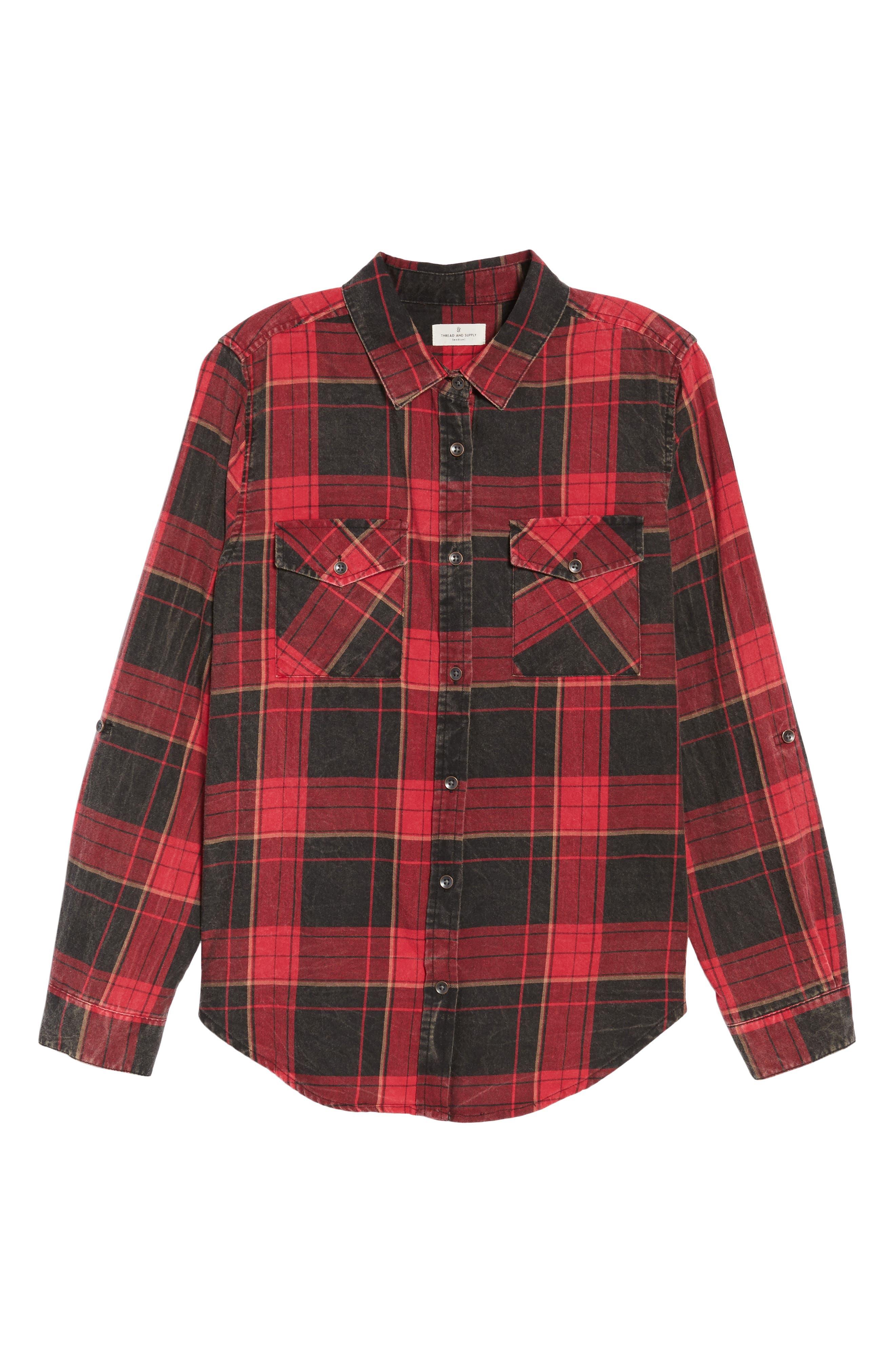 Alternate Image 6  - Thread & Supply Hendrix Plaid Shirt