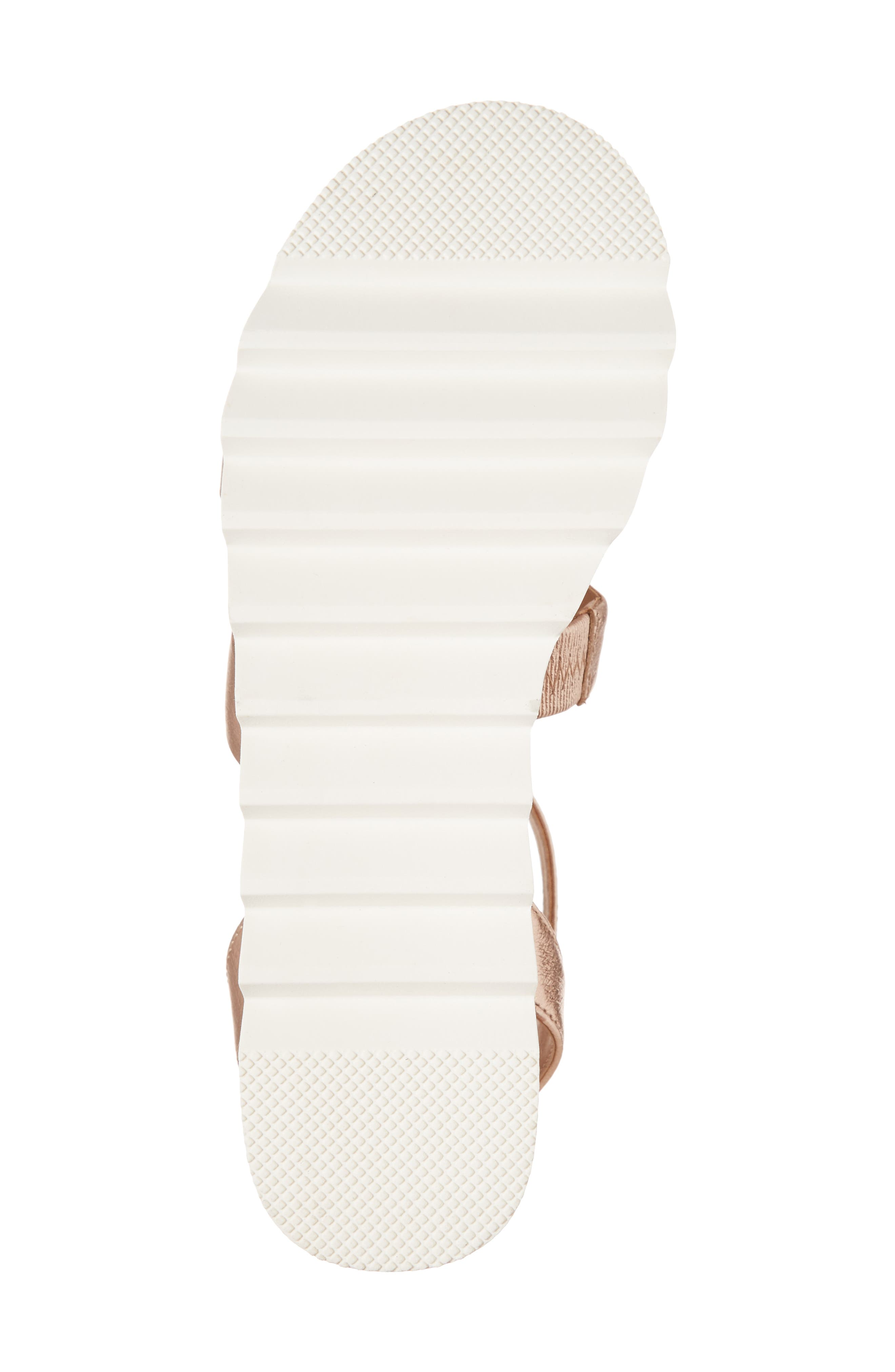 Kirsten Layered Platform Sandal,                             Alternate thumbnail 6, color,                             Rose Leather