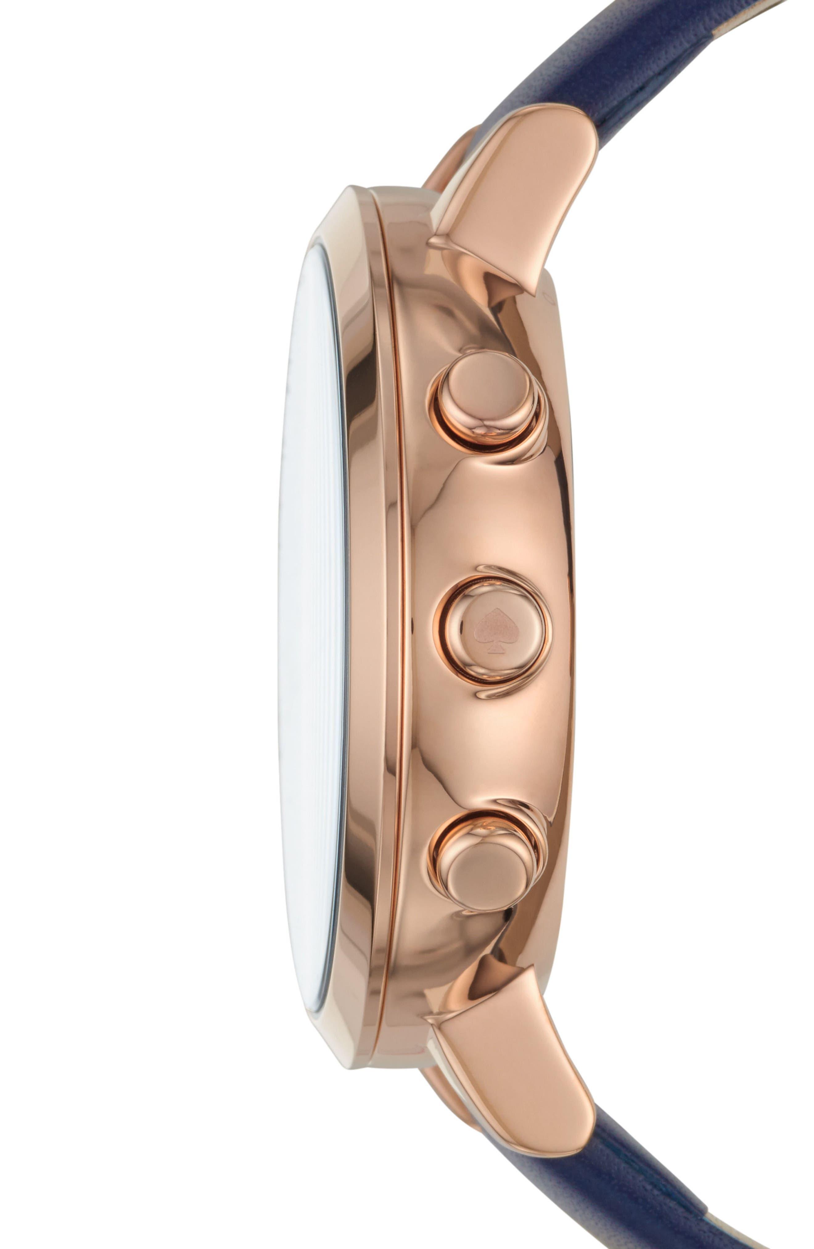 Alternate Image 2  - kate spade new york monterey hybrid leather strap watch, 41mm