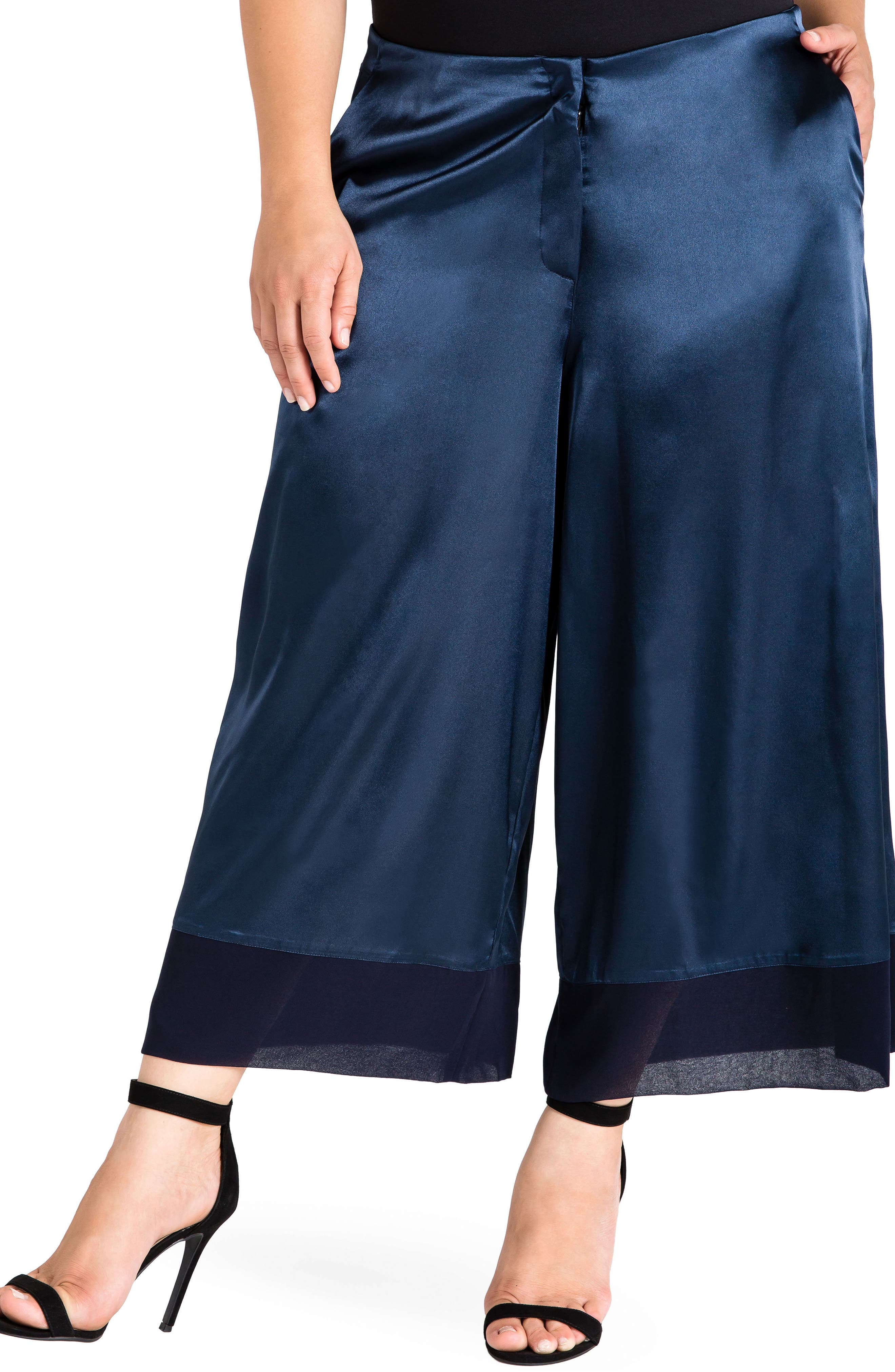 Alternate Image 1 Selected - Standards & Practices Morgan Crop Sateen Pants (Plus Size)