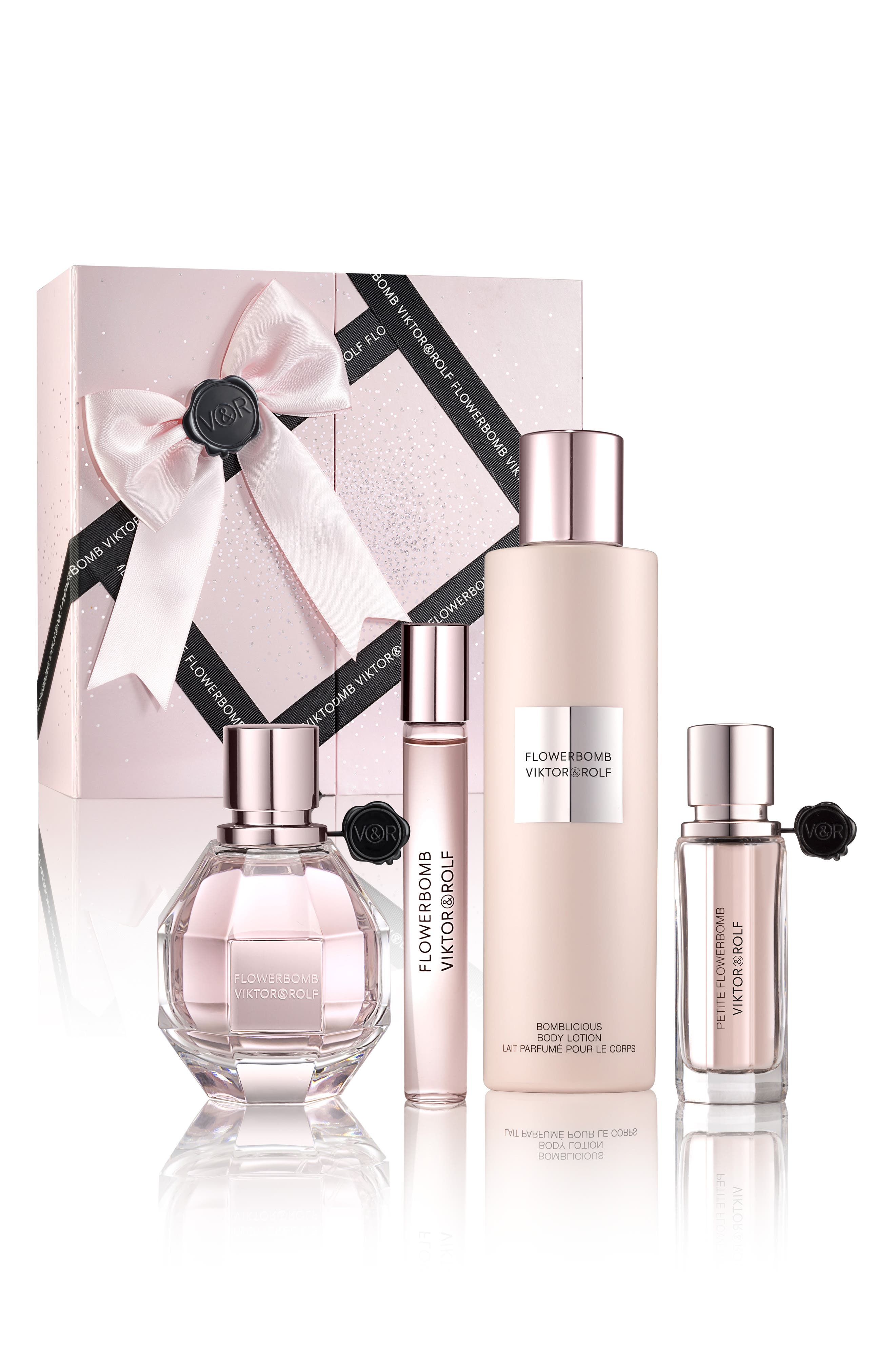 Flowerbomb Four-Piece Luxury Set,                             Alternate thumbnail 4, color,                             No Color