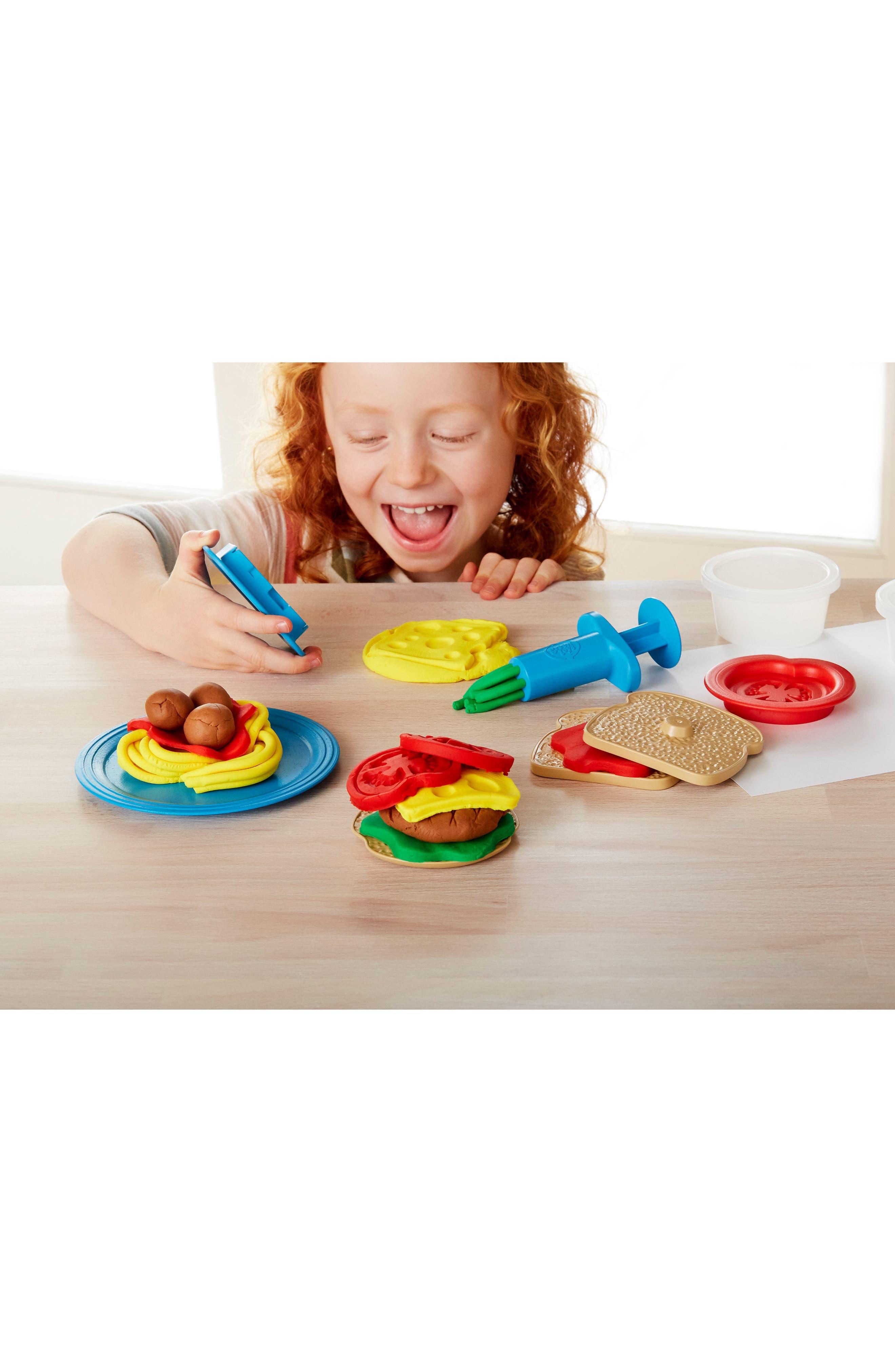 Alternate Image 4  - Green Toys 18-Piece Plastic Meal Maker Dough Set