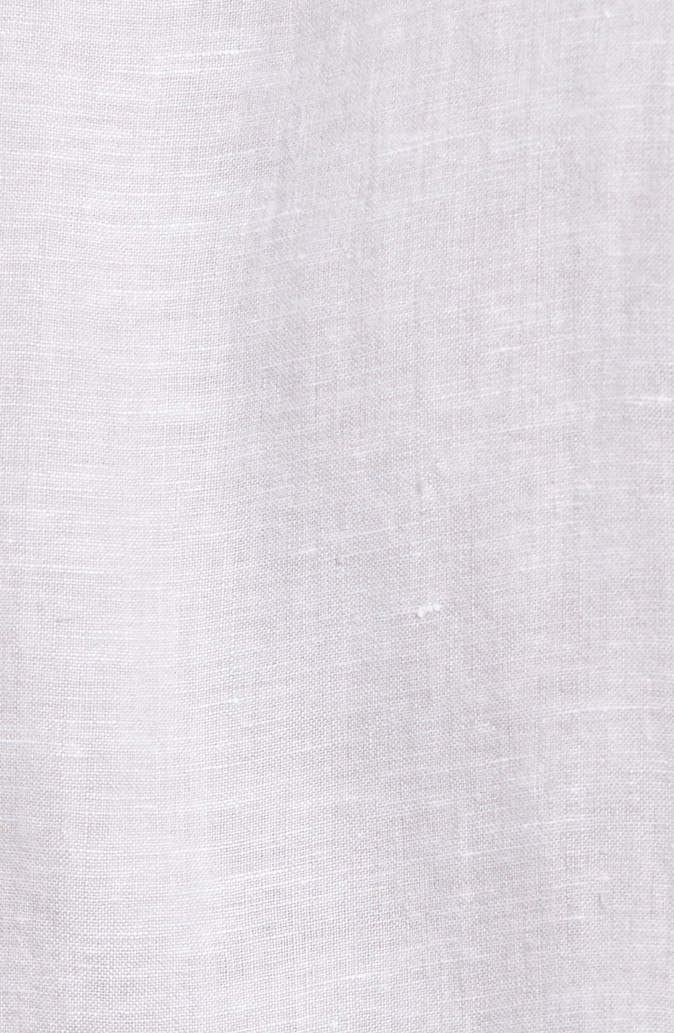 Alternate Image 5  - James Perse Slim Fit Linen Sport Shirt