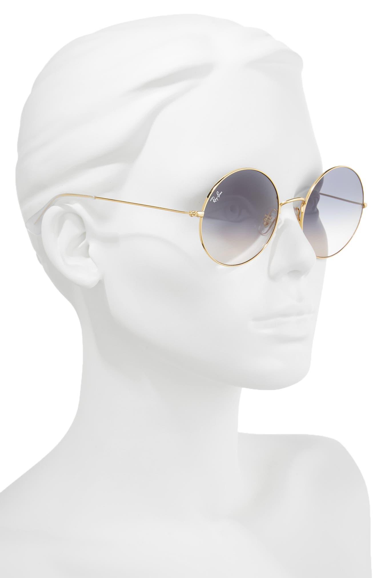 The Ja-Jo 54mm Round Sunglasses,                             Alternate thumbnail 2, color,                             Blue Gradient