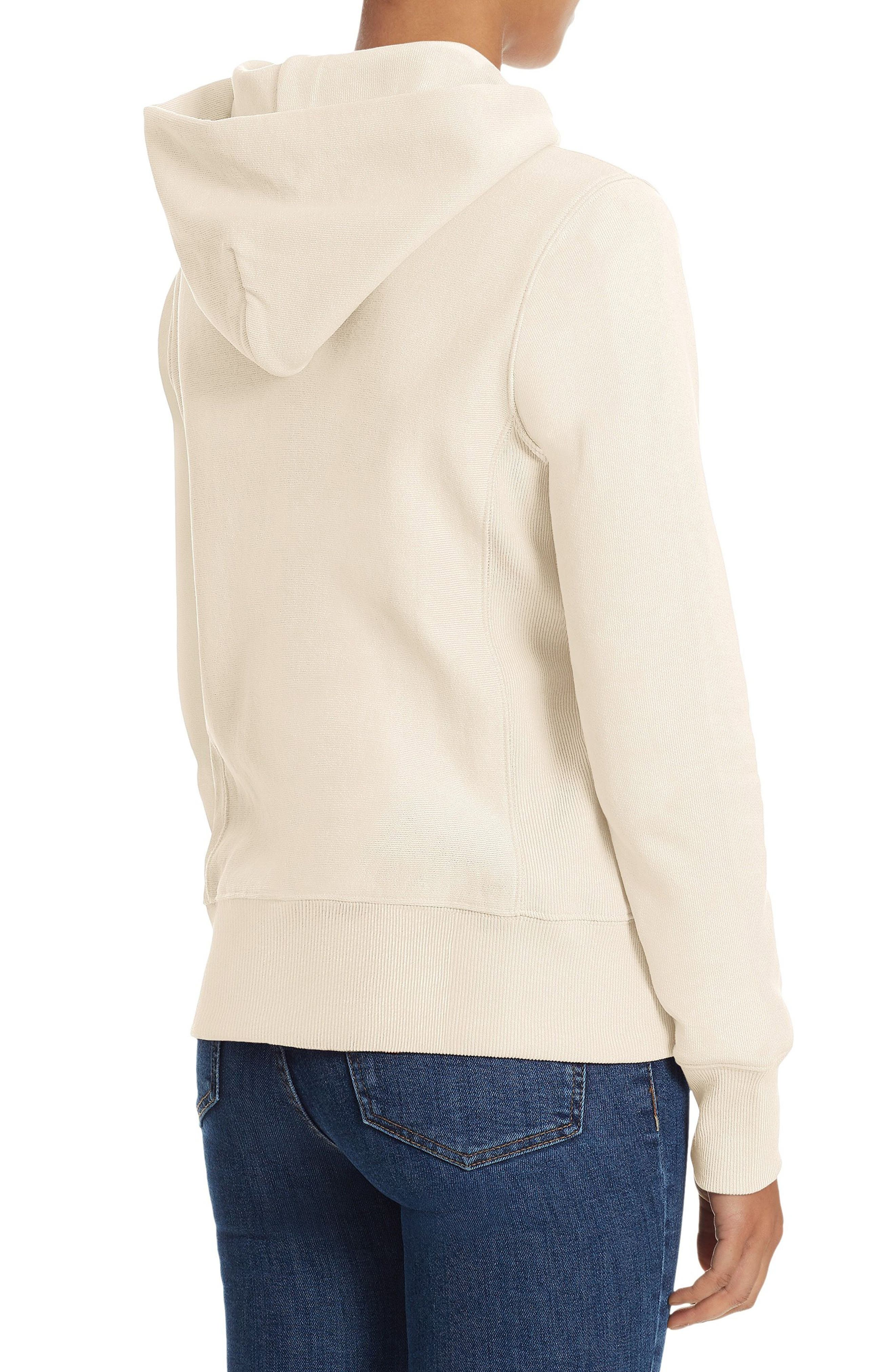Reverse Weave<sup>®</sup> Pullover Hoodie,                             Alternate thumbnail 2, color,                             Chalk White