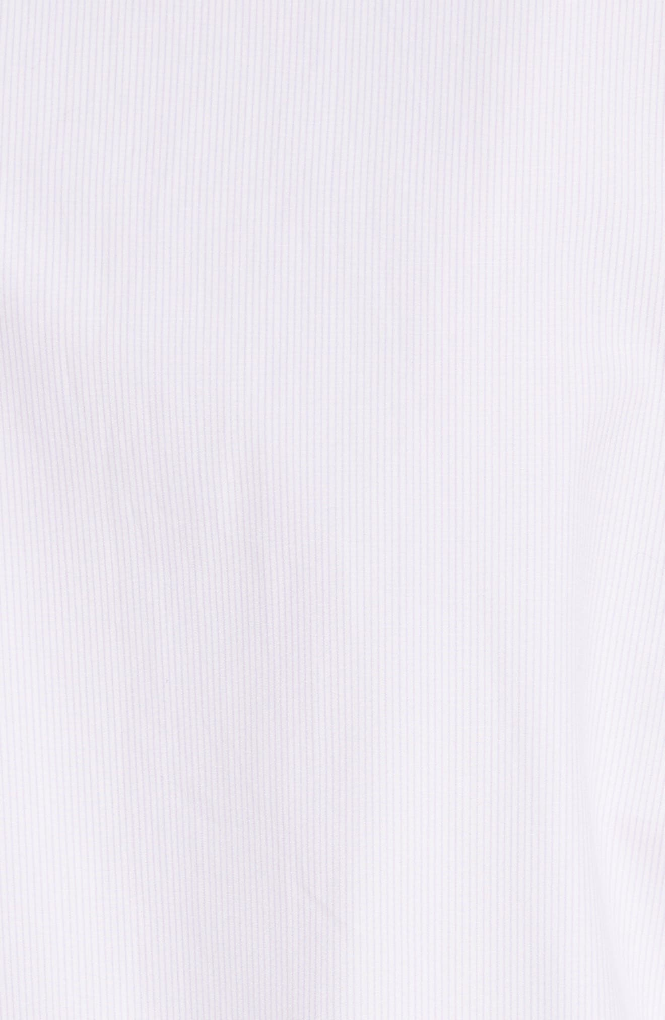 Classic Studded Bra Shirt,                             Alternate thumbnail 6, color,                             Lilac/ White