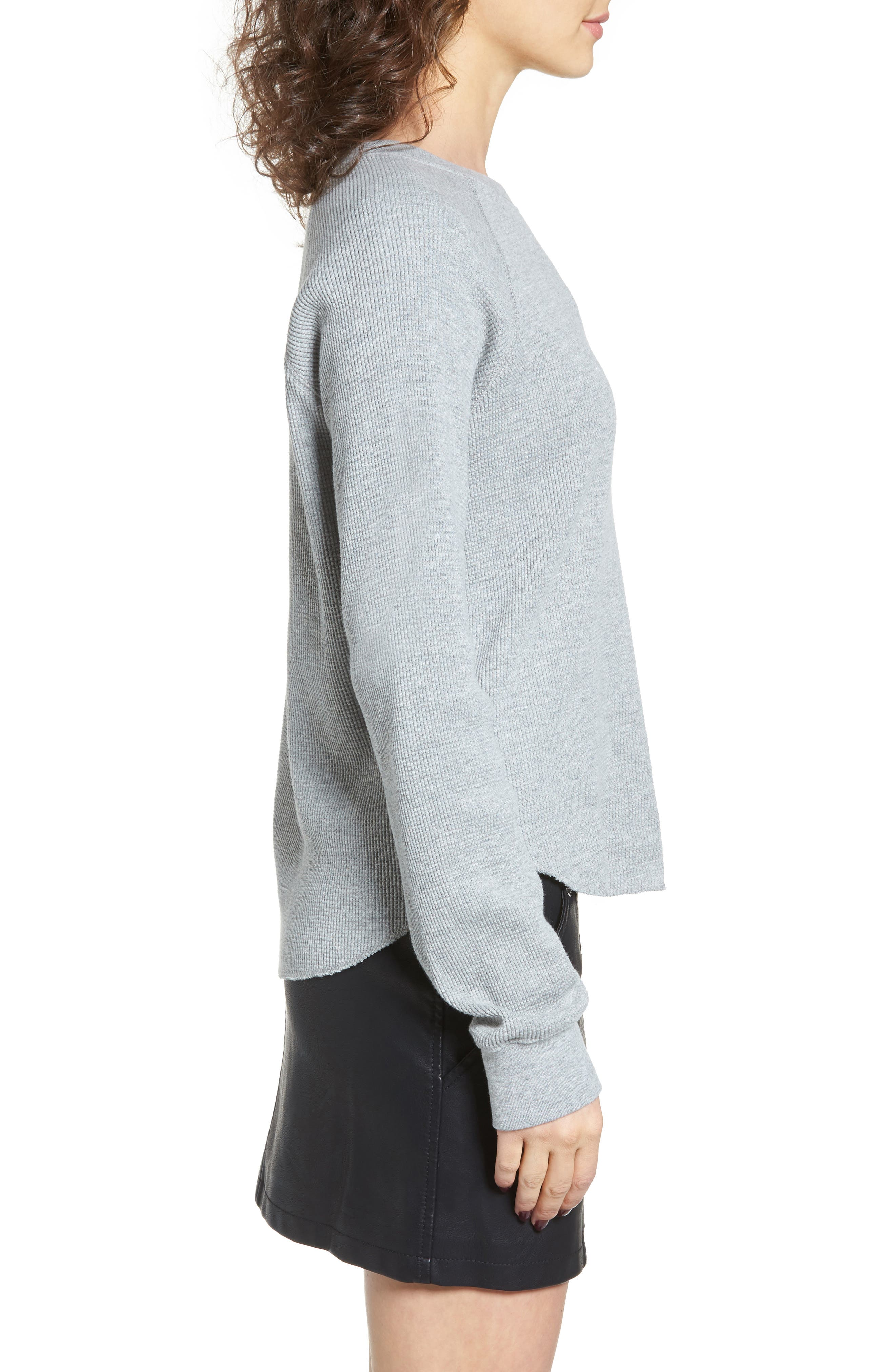 Dune Thermal Top,                             Alternate thumbnail 3, color,                             Heather Grey