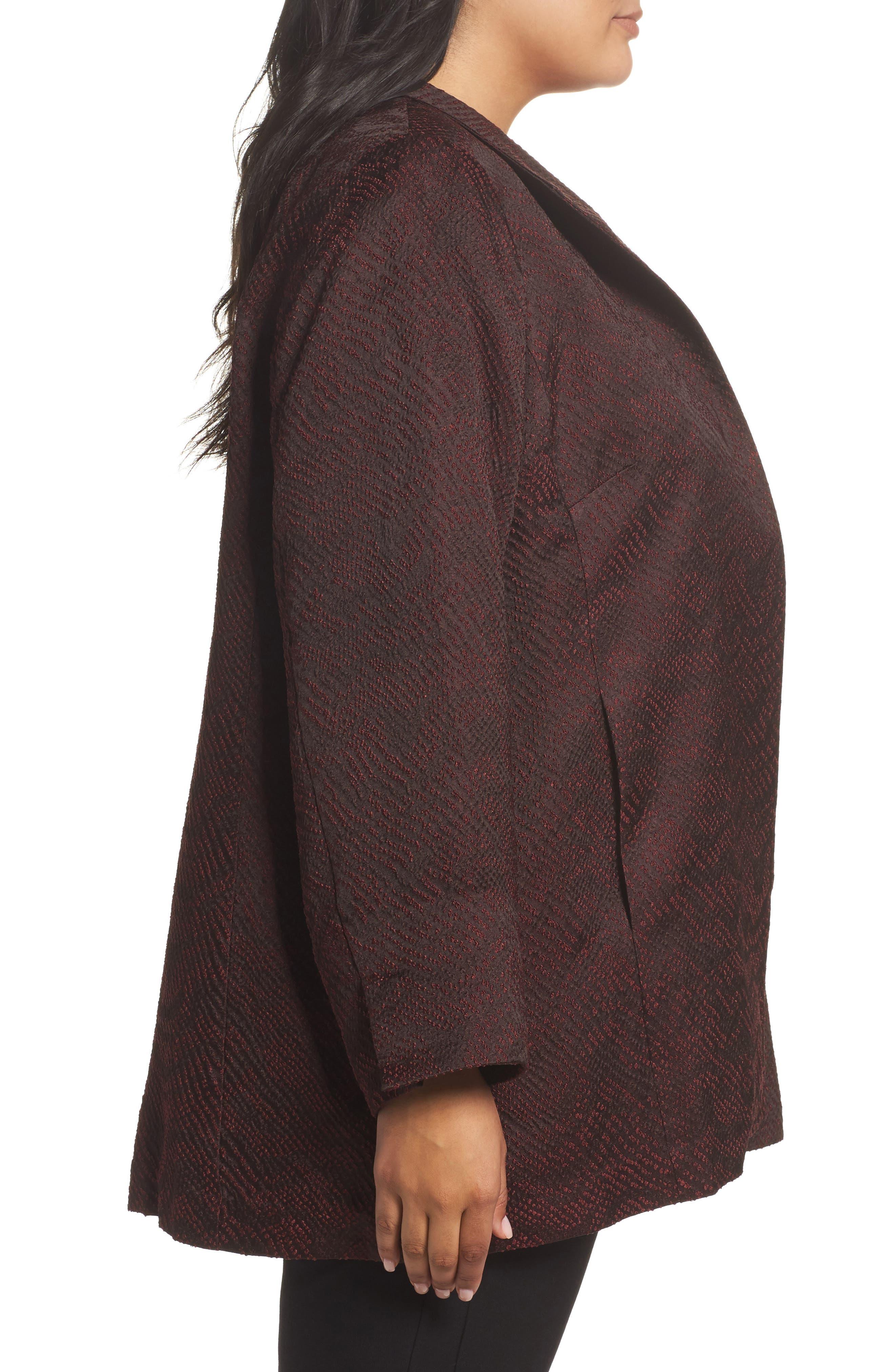 Alternate Image 3  - Eileen Fisher Silk Blend Jacquard Jacket (Plus Size)