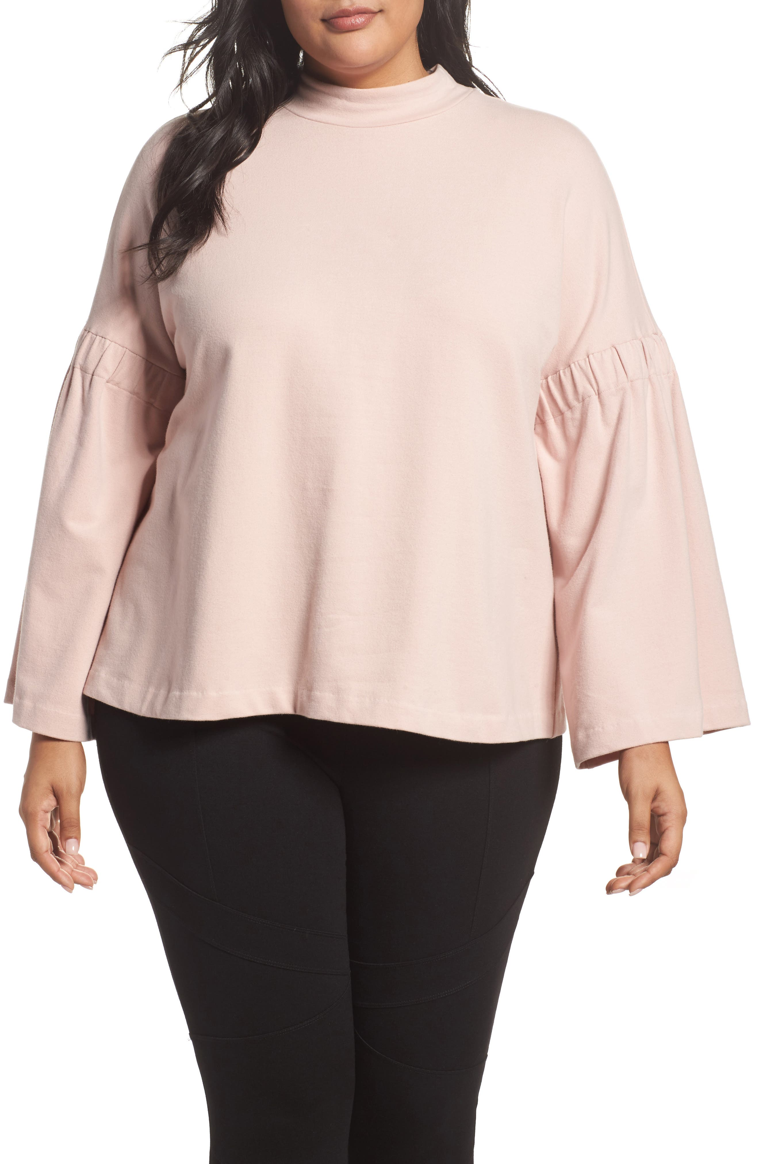 Two by Vince Camuto Bell Sleeve Top (Plus Size)