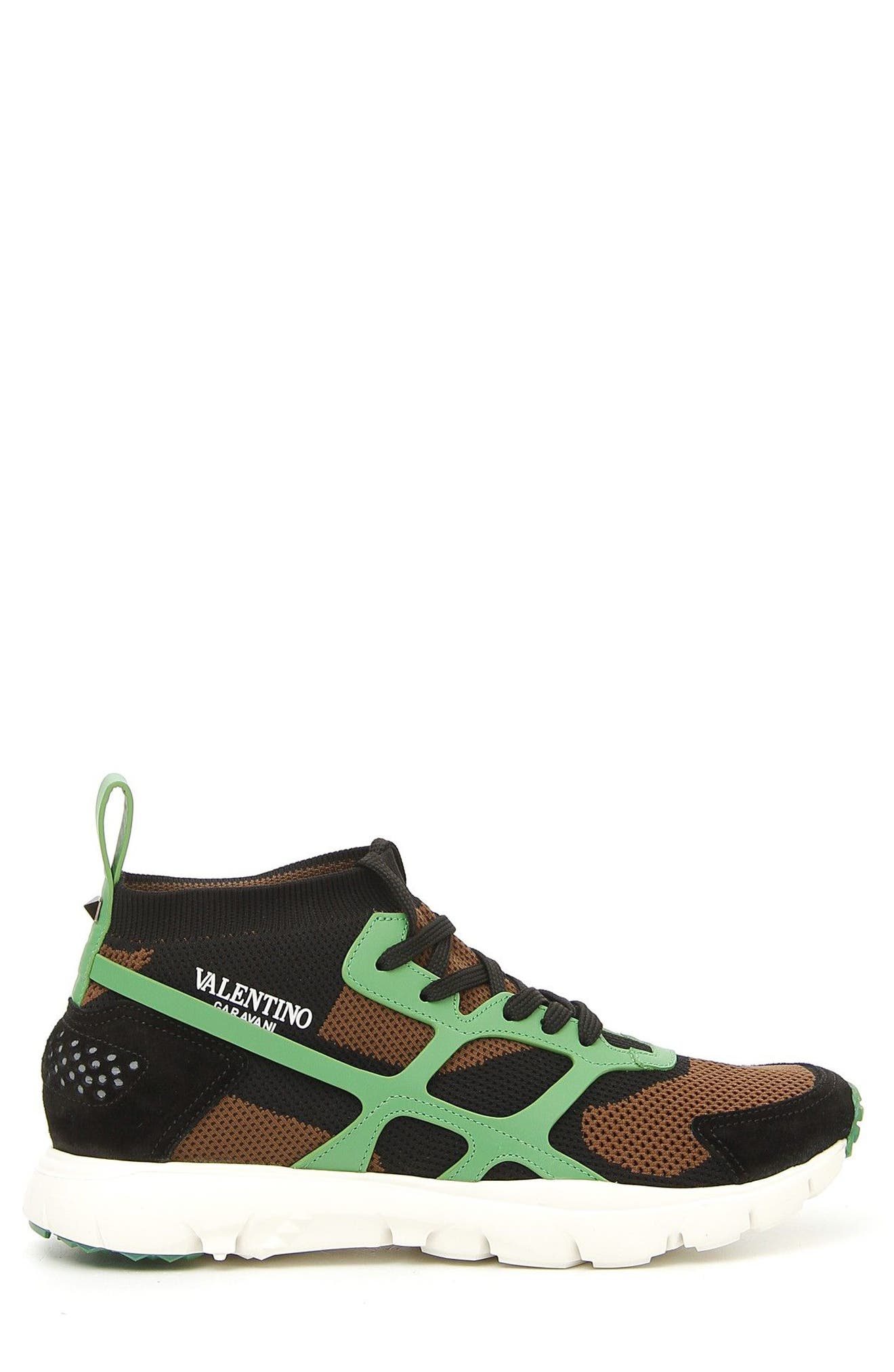 Sound High Sneaker,                             Alternate thumbnail 4, color,                             Army Green/ Nero/ Green