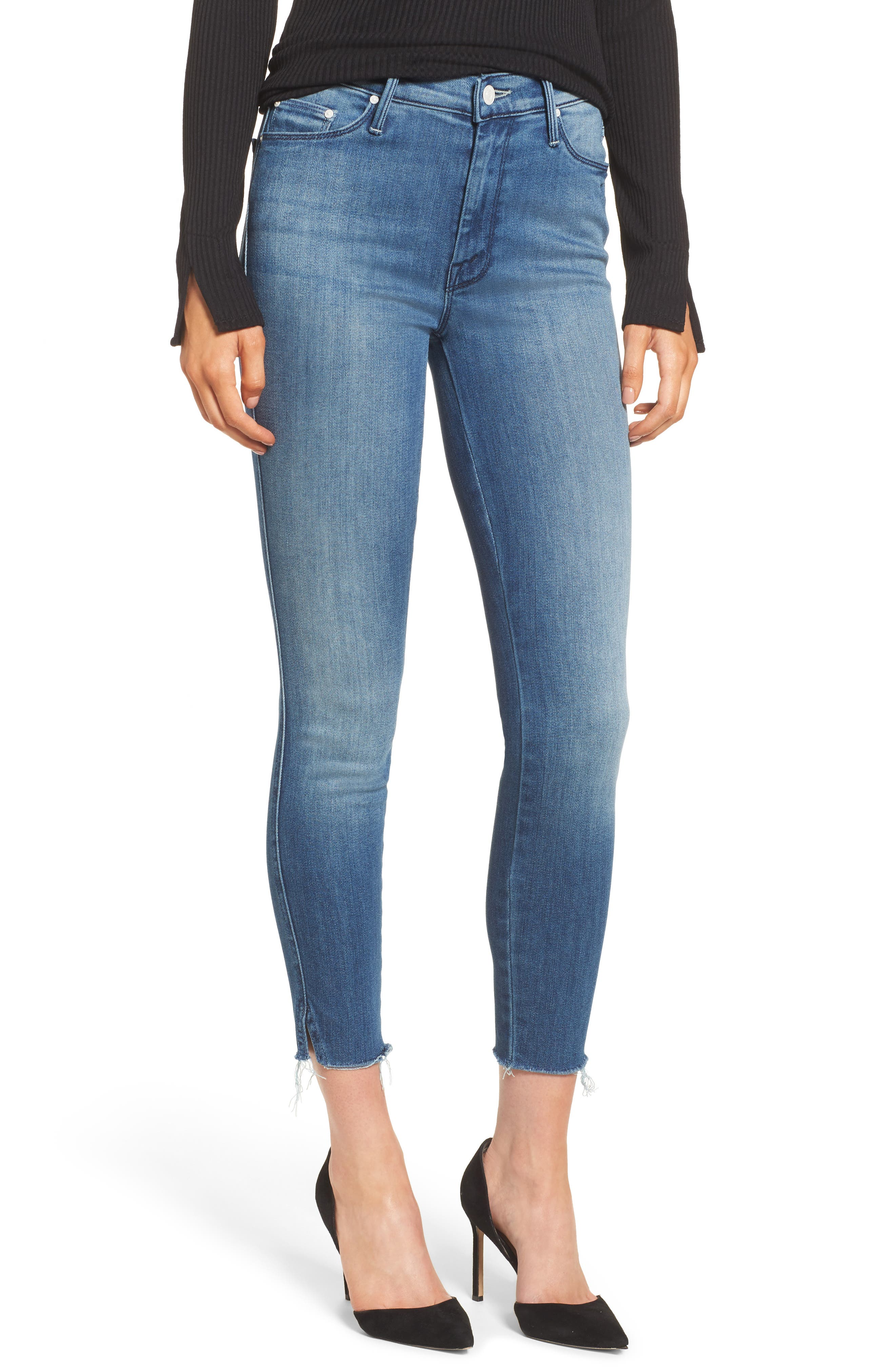MOTHER The Vamp Fray Crop Skinny Jeans (Crack the Whip)