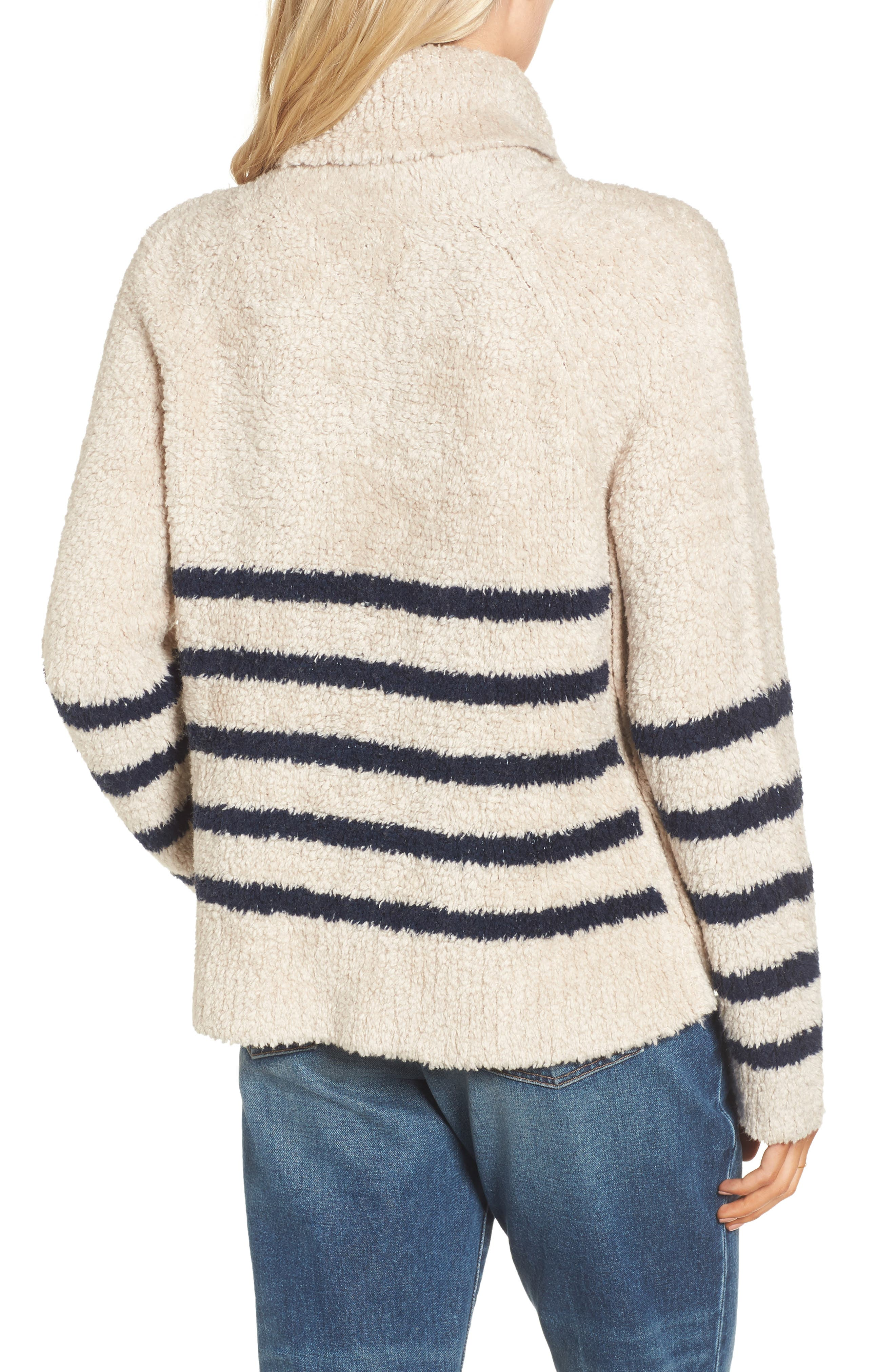 Mariner Stripe Turtleneck Sweater,                             Alternate thumbnail 2, color,                             Cloud Lining