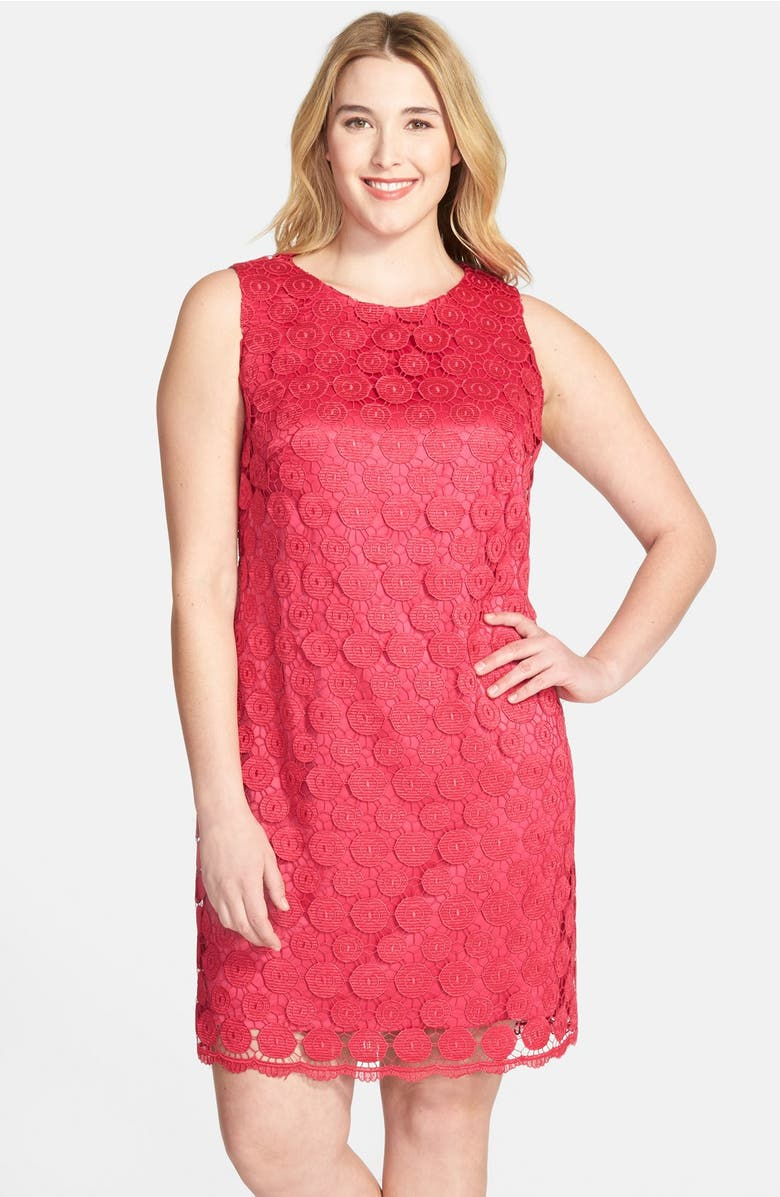 Eliza J Dress Sleeveless Lace Shift Dress (Plus Size) | Nordstrom