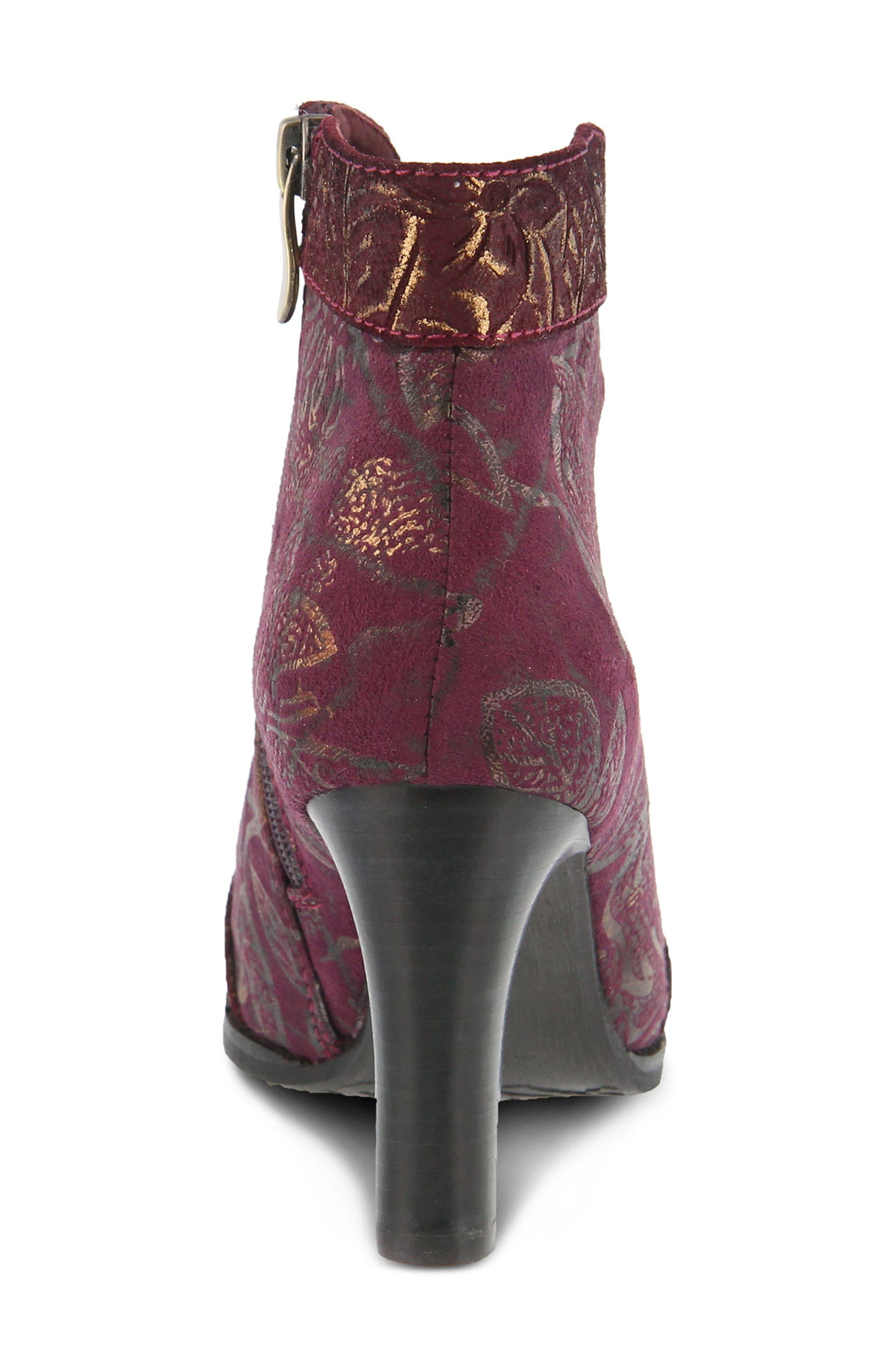 L'Artiste Lidia Bootie,                             Alternate thumbnail 5, color,                             Bordeaux Leather