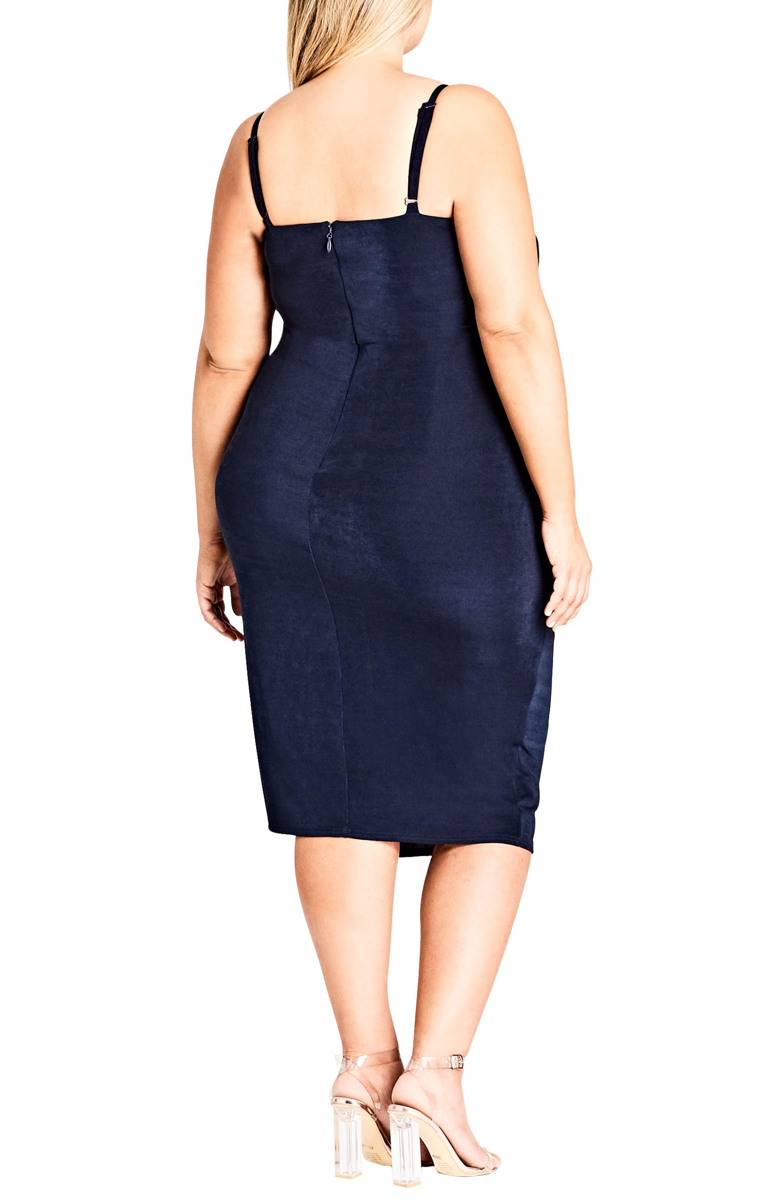 Alternate Image 2  - City Chic Hide and Seek Faux Wrap Dress (Plus Size)
