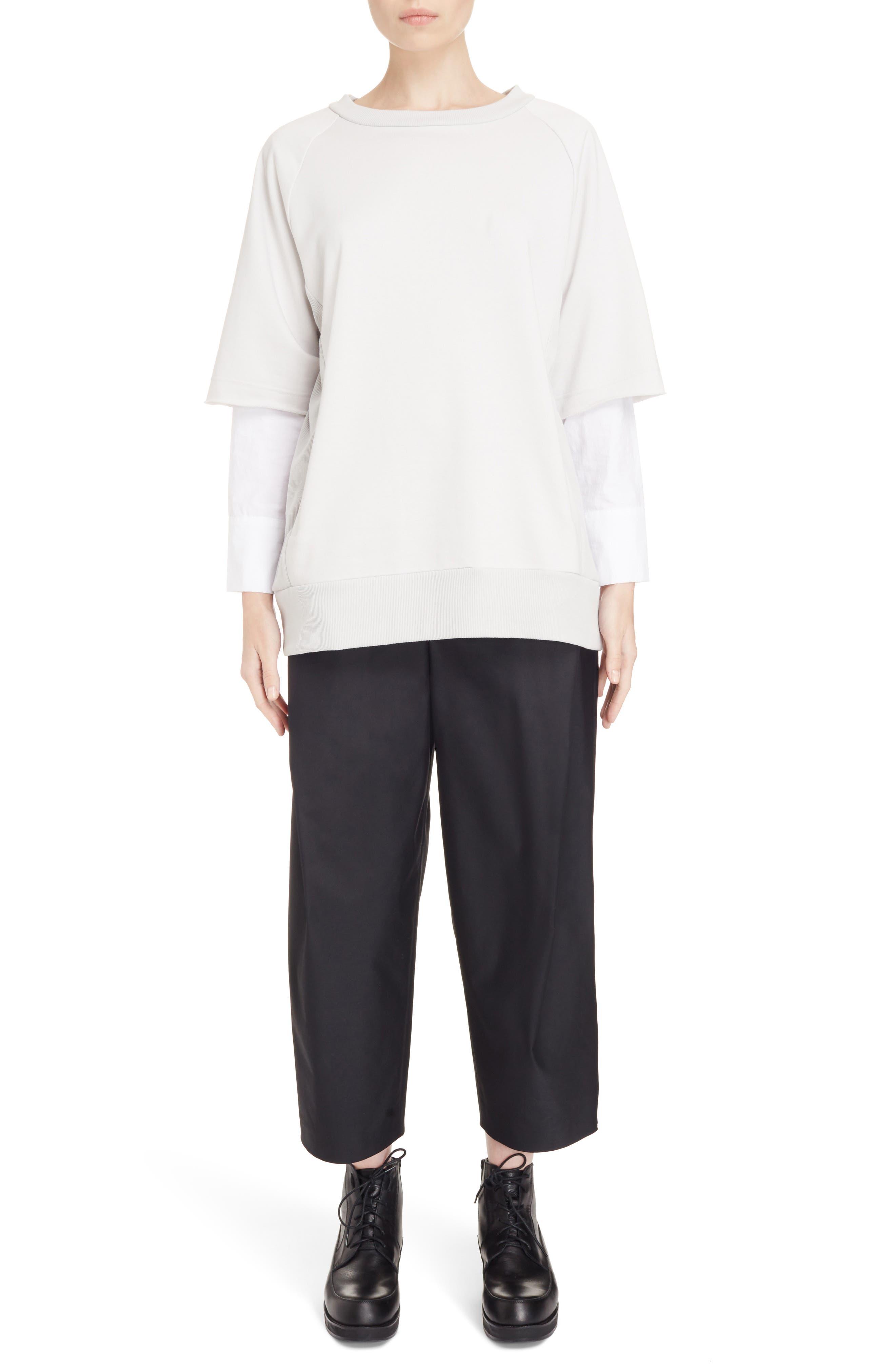 Alternate Image 6  - Y's by Yohji Yamamoto Double Sleeve Sweatshirt