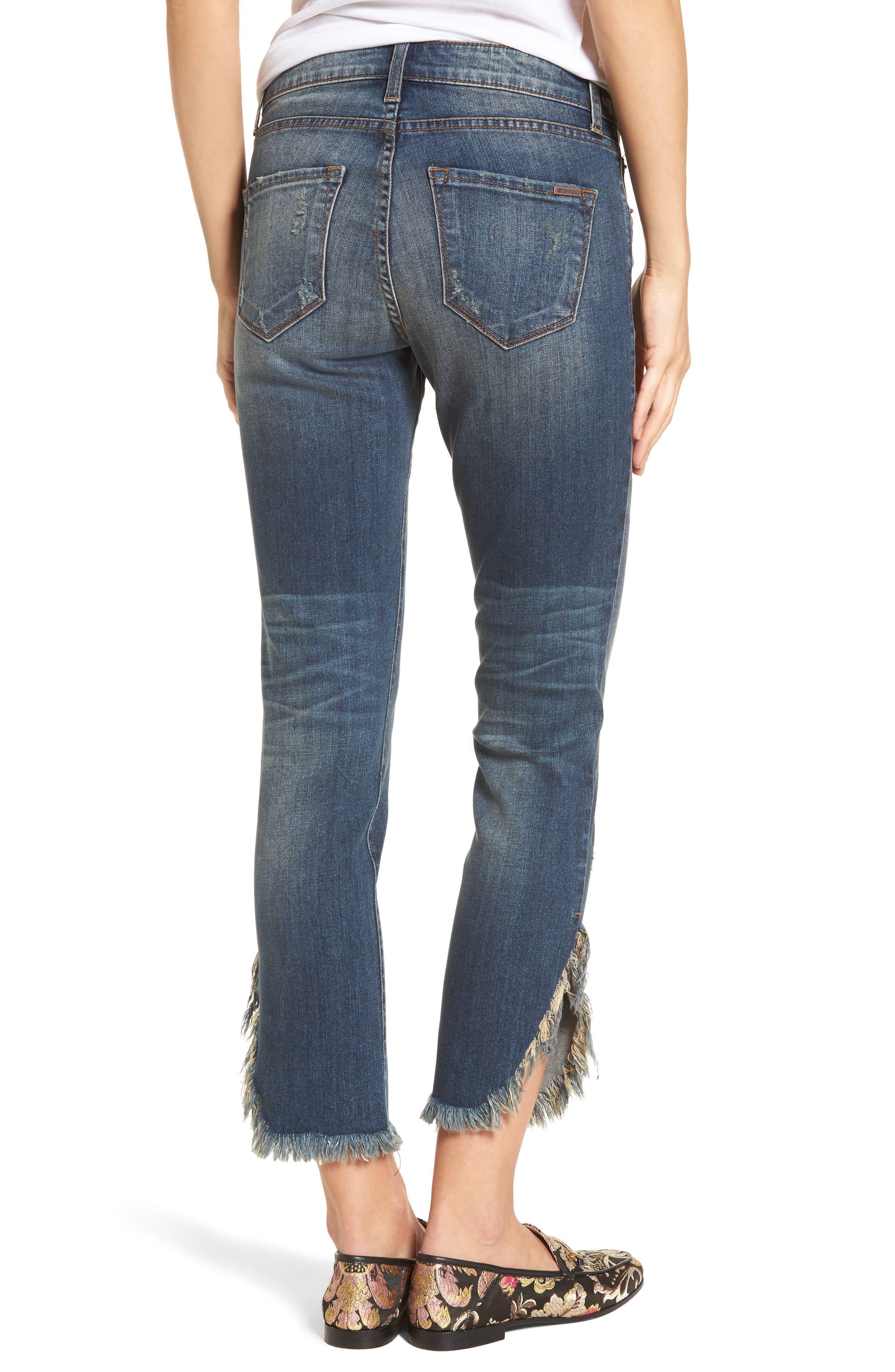 Emma Fray Tulip Hem Skinny Jeans,                             Alternate thumbnail 2, color,                             Nelson