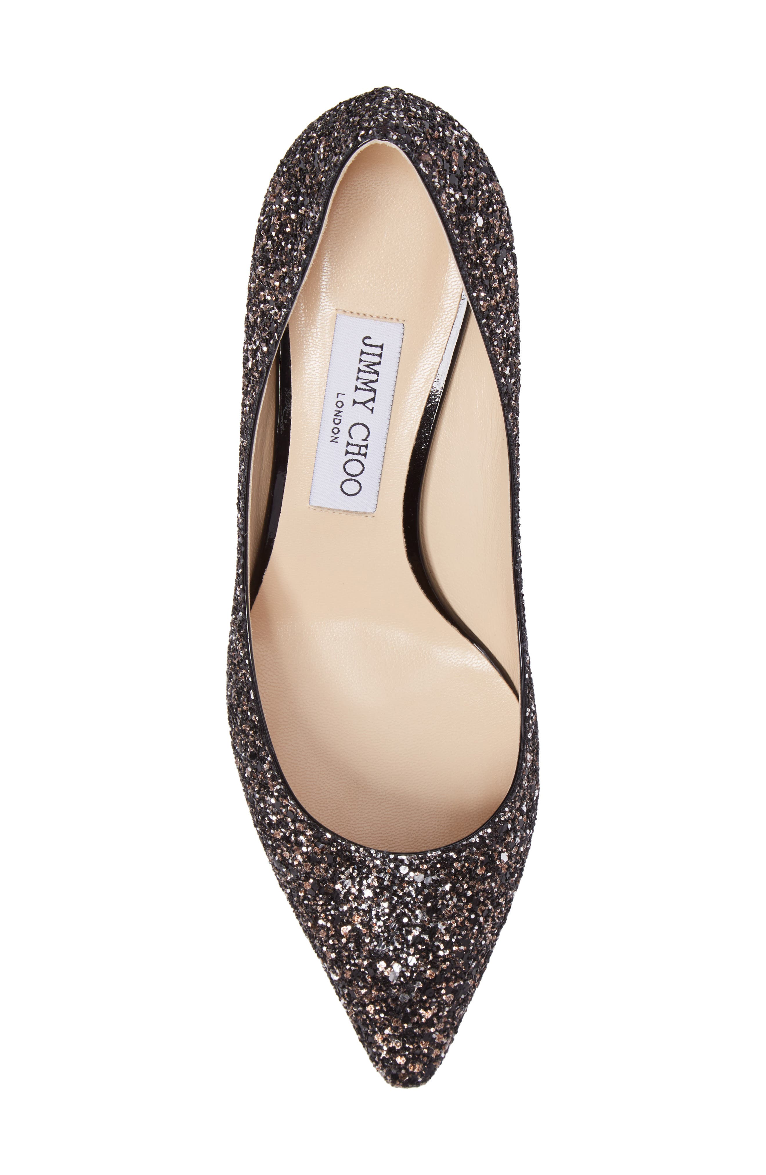 Alternate Image 5  - Jimmy Choo Romy Glitter Pump (Women)