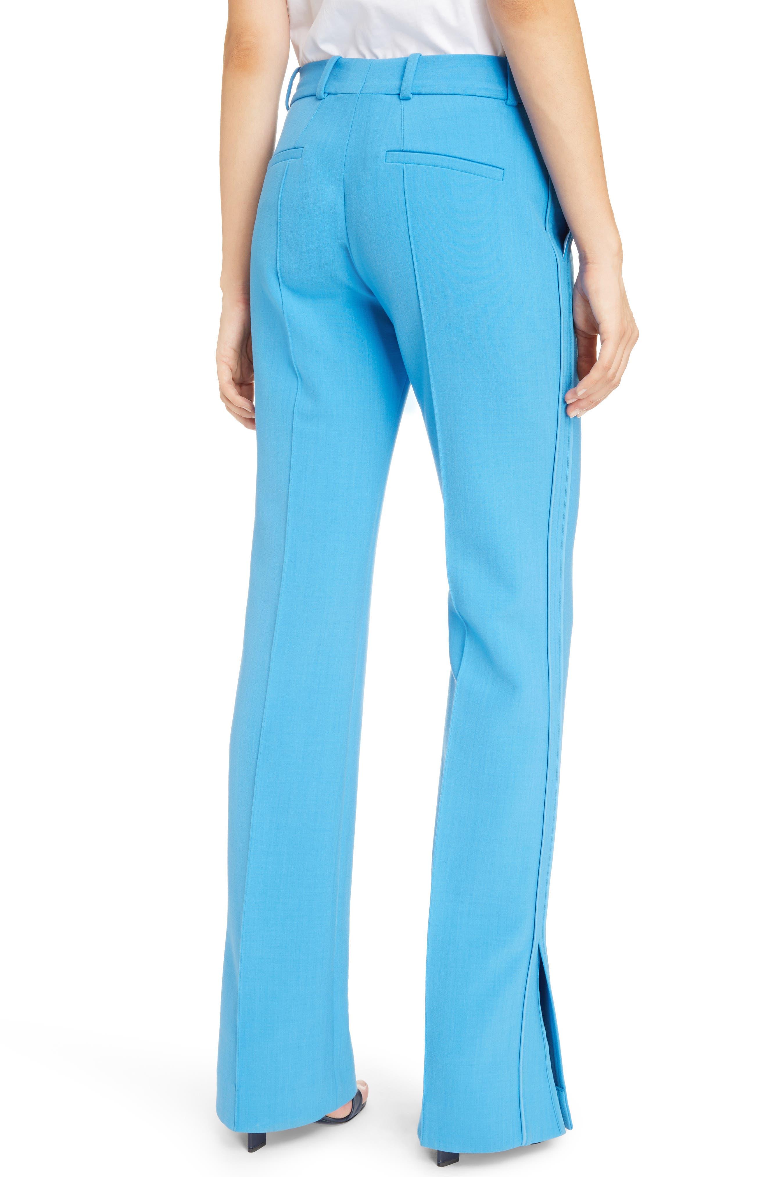 Split Hem Pants,                             Alternate thumbnail 4, color,                             Azure