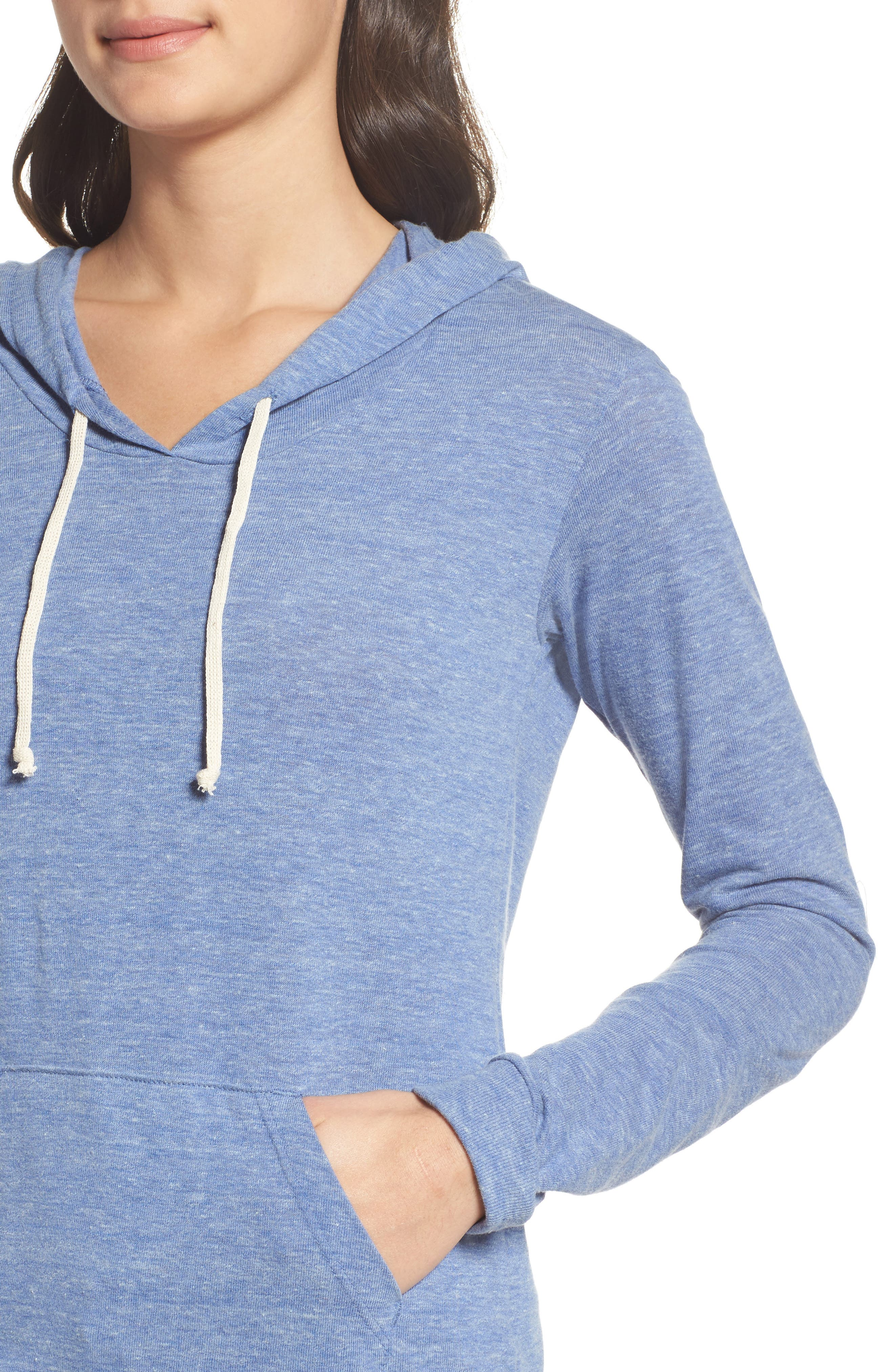 Classic Pullover Hoodie,                             Alternate thumbnail 4, color,                             Eco Pacific Blue